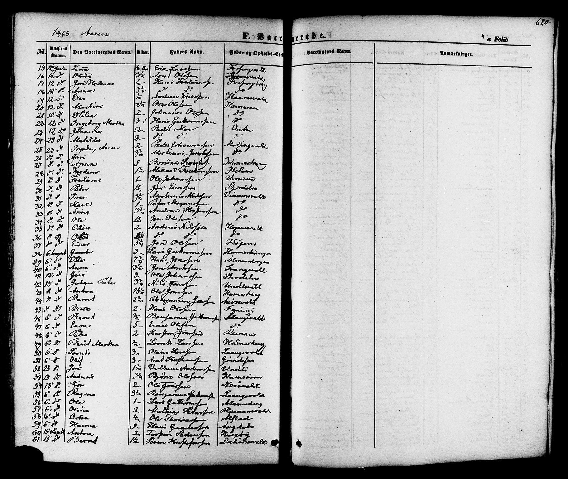 SAT, Ministerialprotokoller, klokkerbøker og fødselsregistre - Nord-Trøndelag, 713/L0116: Ministerialbok nr. 713A07 /1, 1850-1877, s. 620