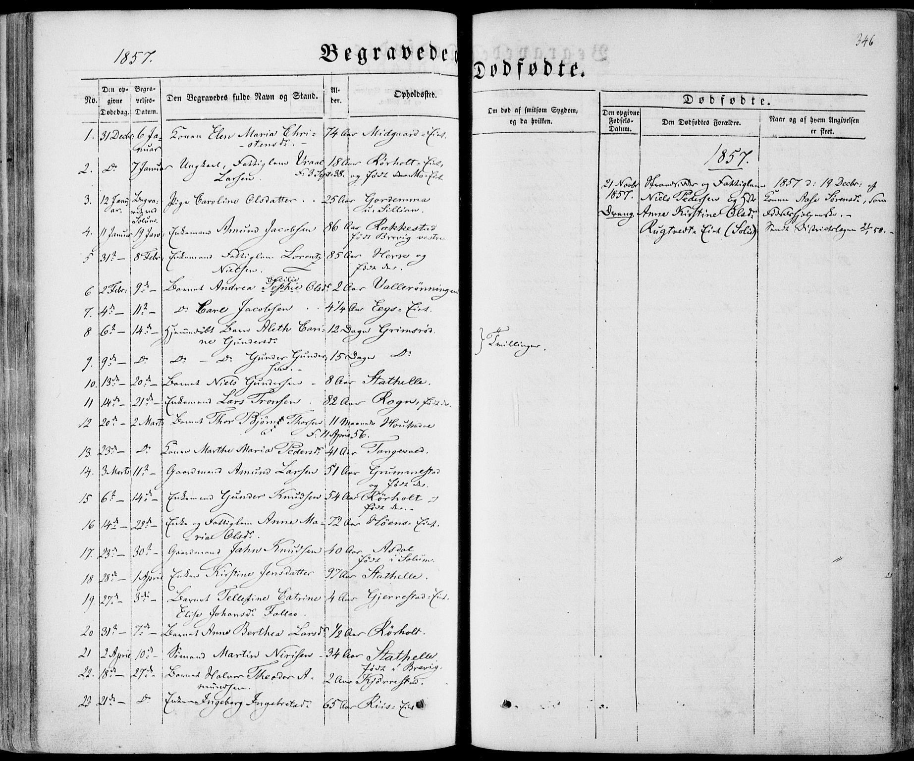 SAKO, Bamble kirkebøker, F/Fa/L0005: Ministerialbok nr. I 5, 1854-1869, s. 346