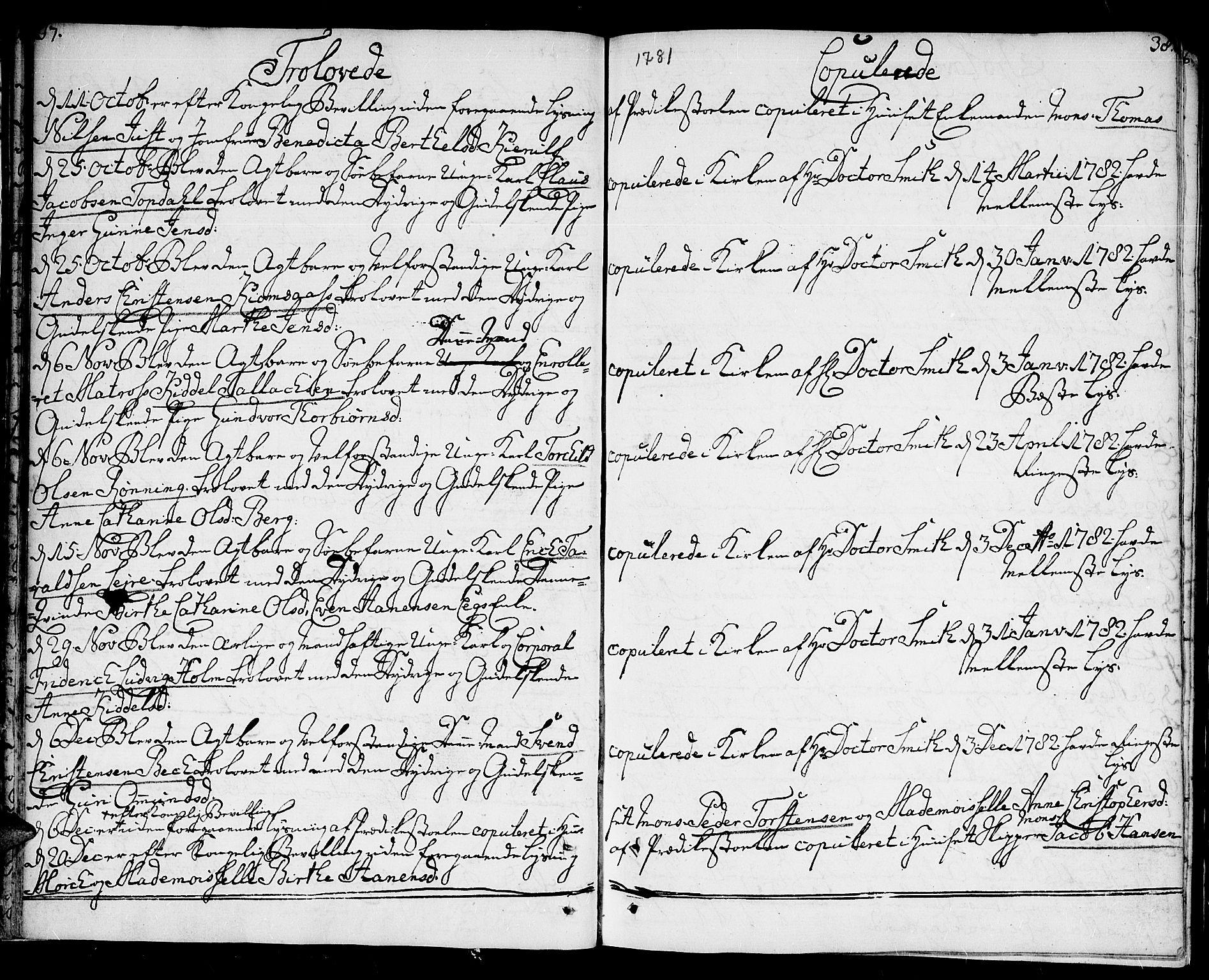 SAK, Kristiansand domprosti, F/Fa/L0005: Ministerialbok nr. A 5, 1776-1818, s. 37-38