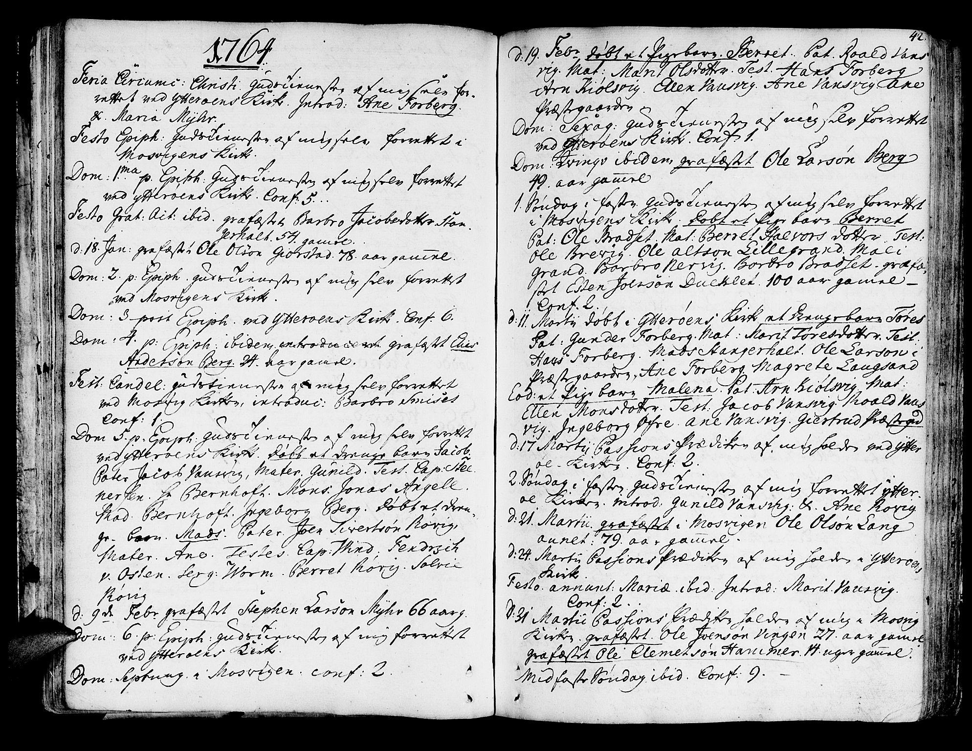 SAT, Ministerialprotokoller, klokkerbøker og fødselsregistre - Nord-Trøndelag, 722/L0216: Ministerialbok nr. 722A03, 1756-1816, s. 42