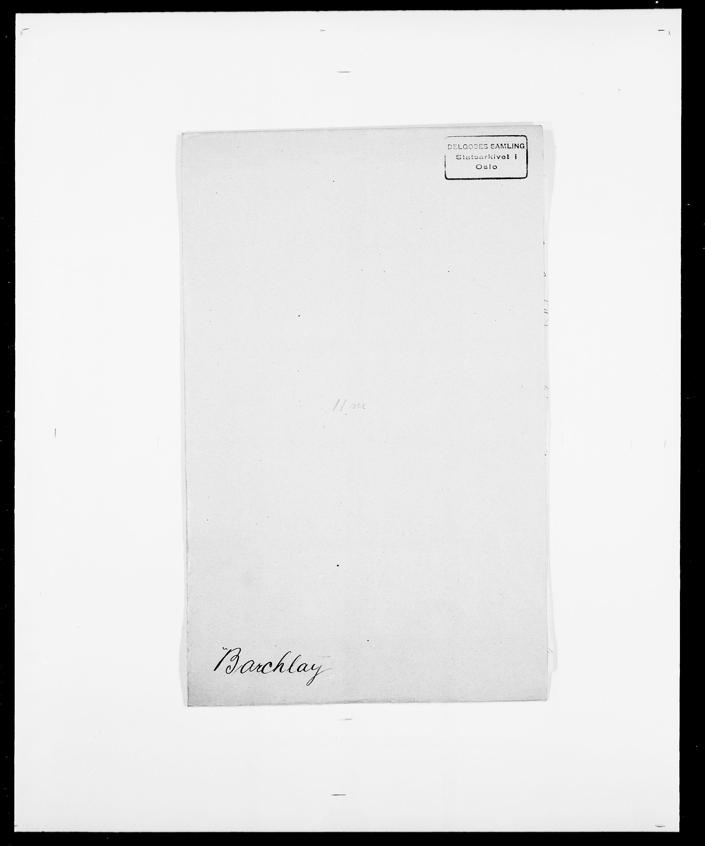 SAO, Delgobe, Charles Antoine - samling, D/Da/L0003: Barca - Bergen, s. 277