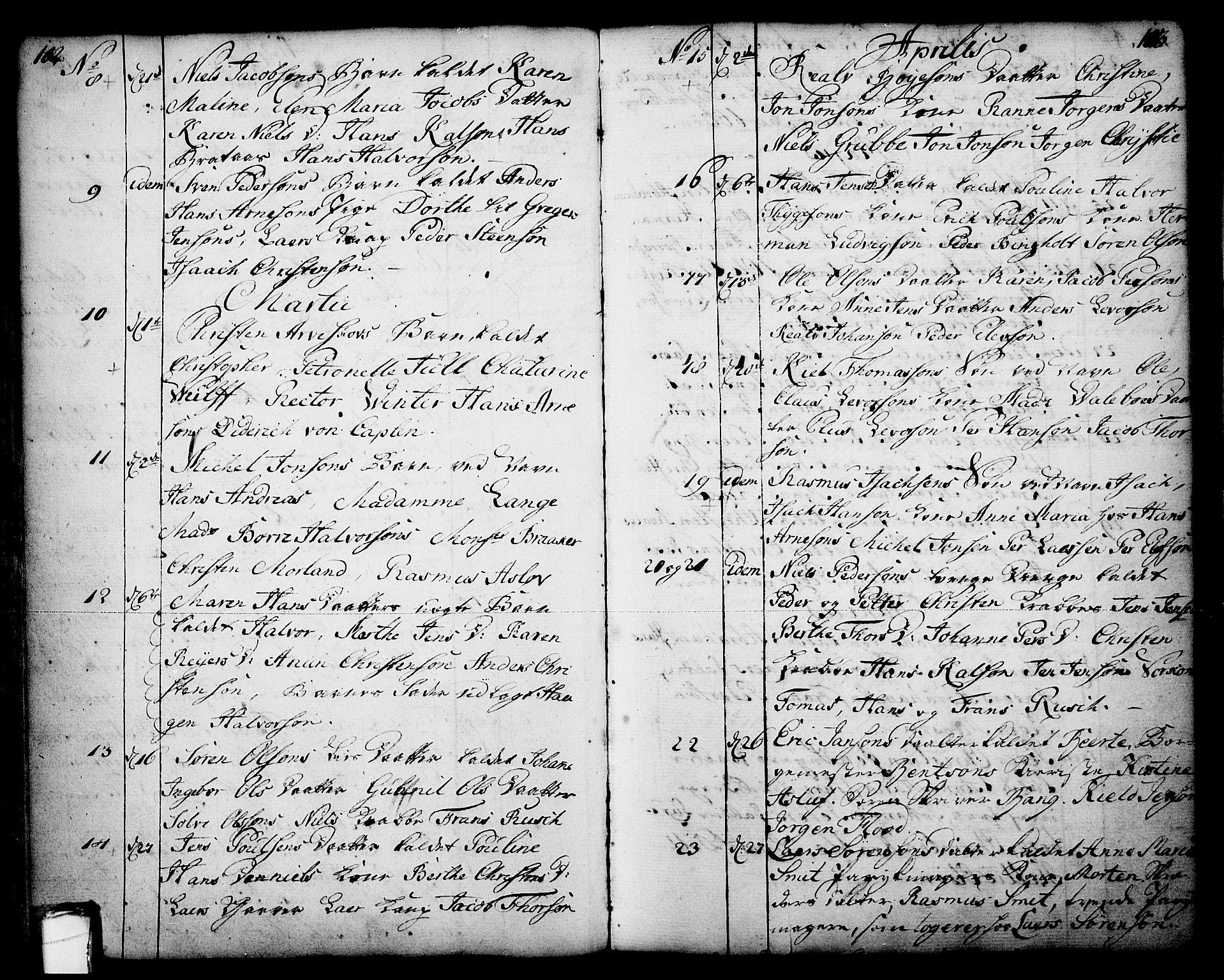 SAKO, Skien kirkebøker, F/Fa/L0003: Ministerialbok nr. 3, 1755-1791, s. 102-103