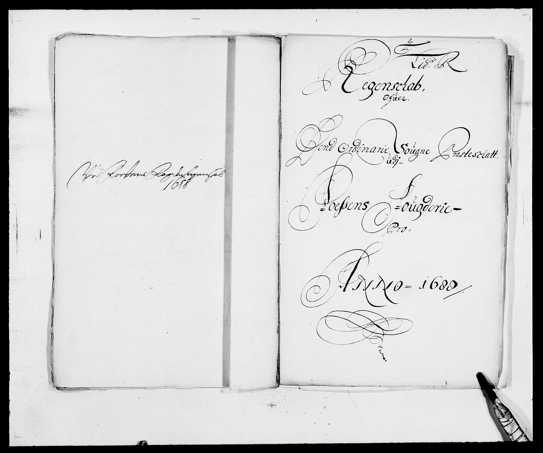 RA, Rentekammeret inntil 1814, Reviderte regnskaper, Fogderegnskap, R57/L3846: Fogderegnskap Fosen, 1688, s. 190