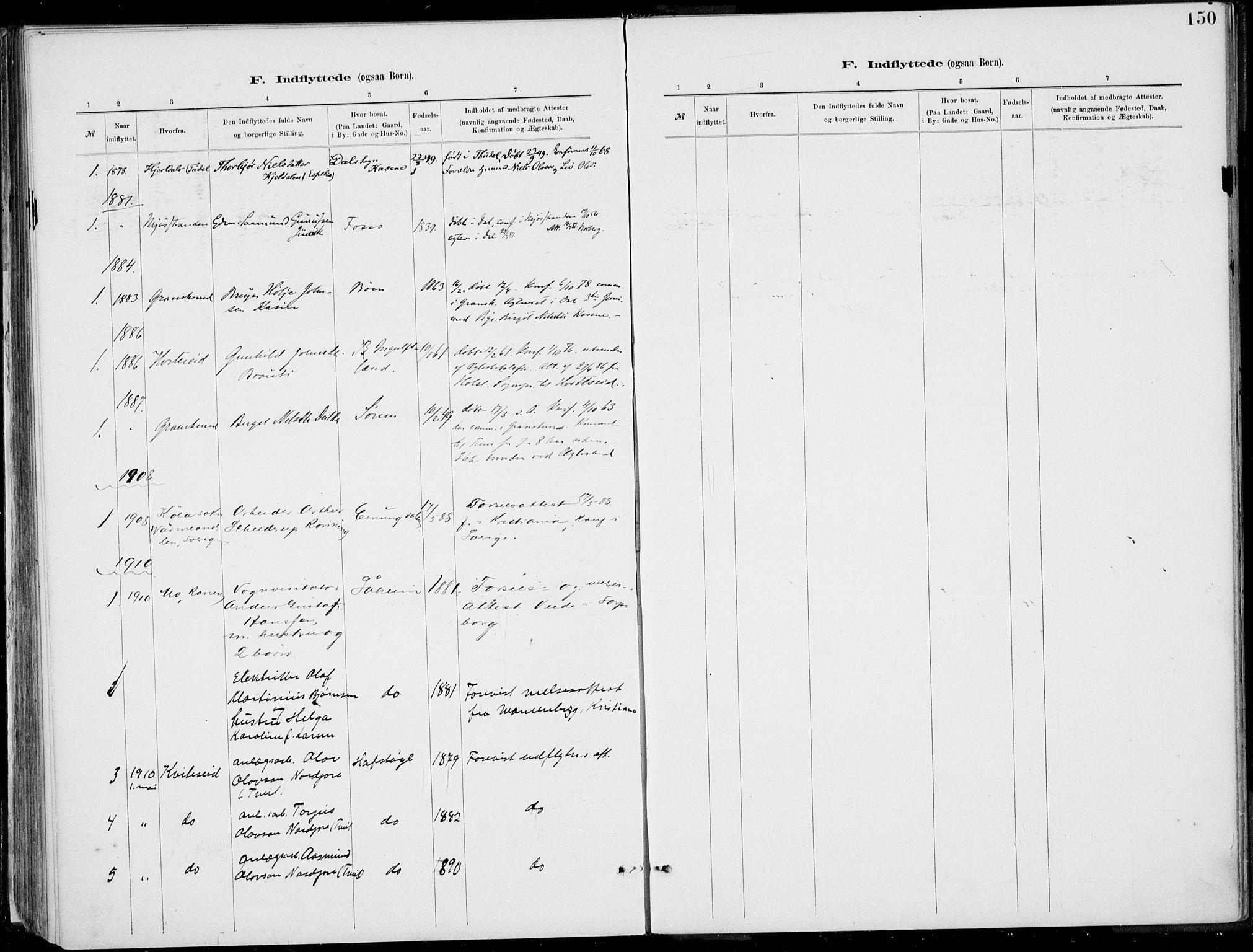 SAKO, Rjukan kirkebøker, F/Fa/L0001: Ministerialbok nr. 1, 1878-1912, s. 150