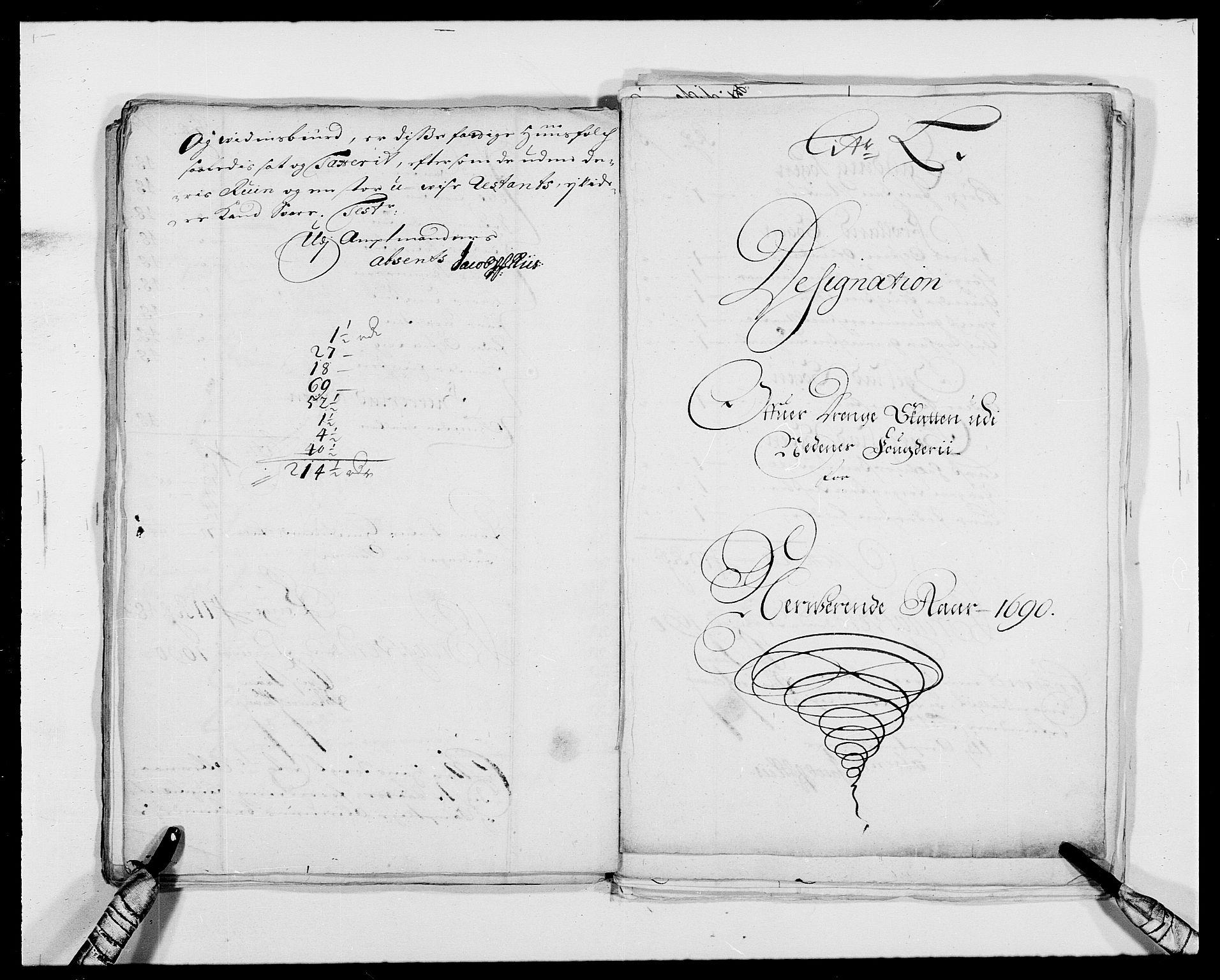 RA, Rentekammeret inntil 1814, Reviderte regnskaper, Fogderegnskap, R39/L2310: Fogderegnskap Nedenes, 1690-1692, s. 239