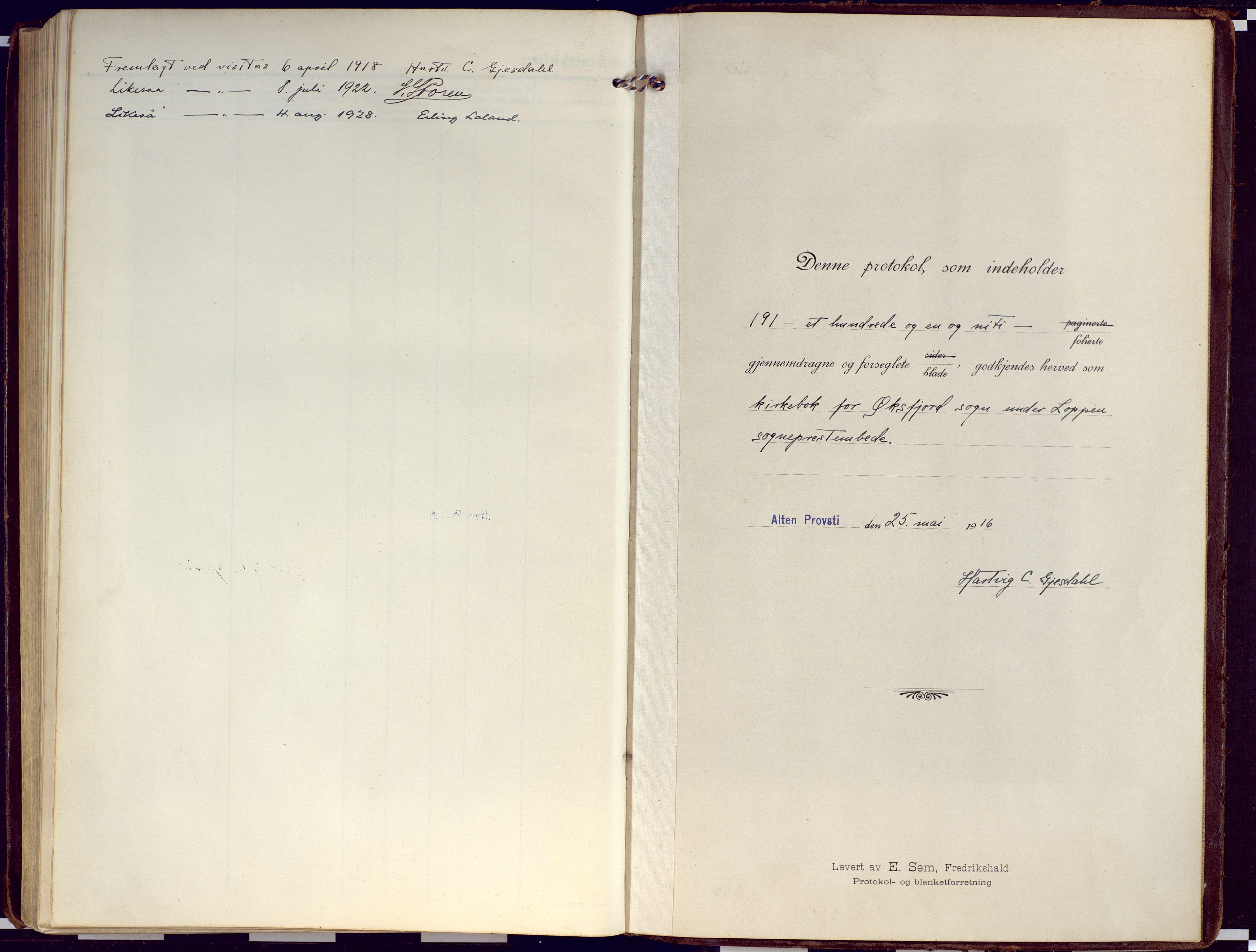SATØ, Loppa sokneprestkontor, H/Ha/L0012kirke: Ministerialbok nr. 12, 1917-1932