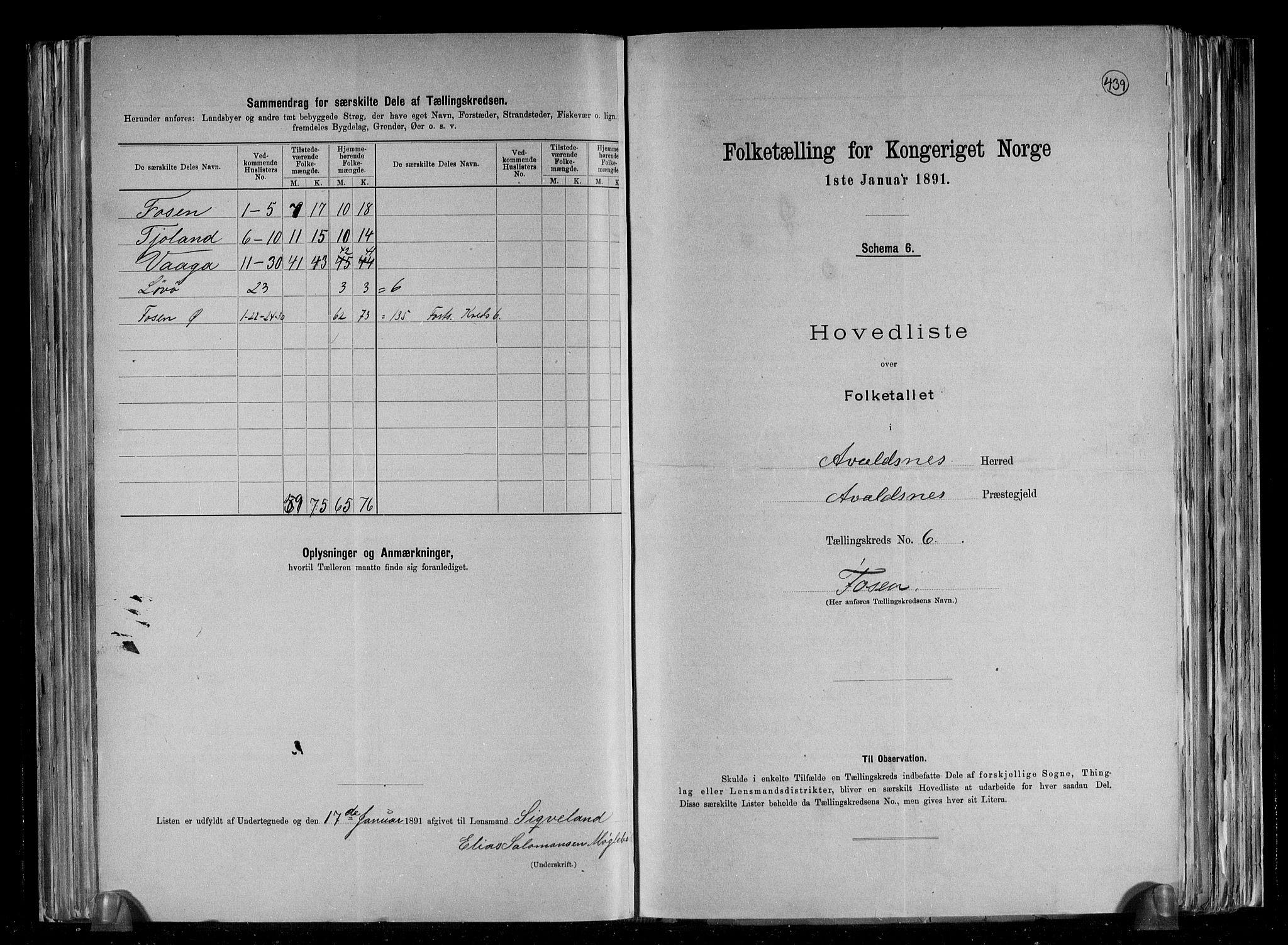 RA, Folketelling 1891 for 1147 Avaldsnes herred, 1891, s. 32