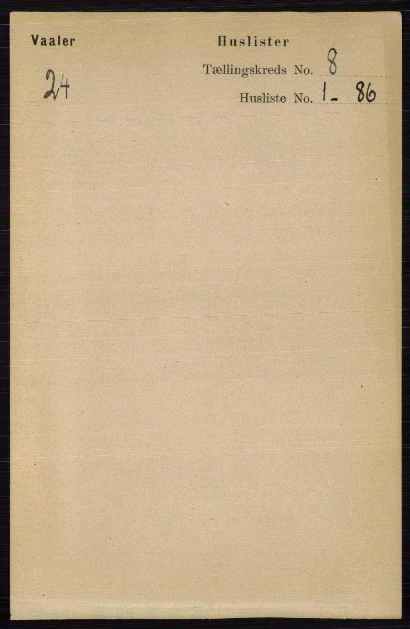 RA, Folketelling 1891 for 0426 Våler herred, 1891, s. 3258