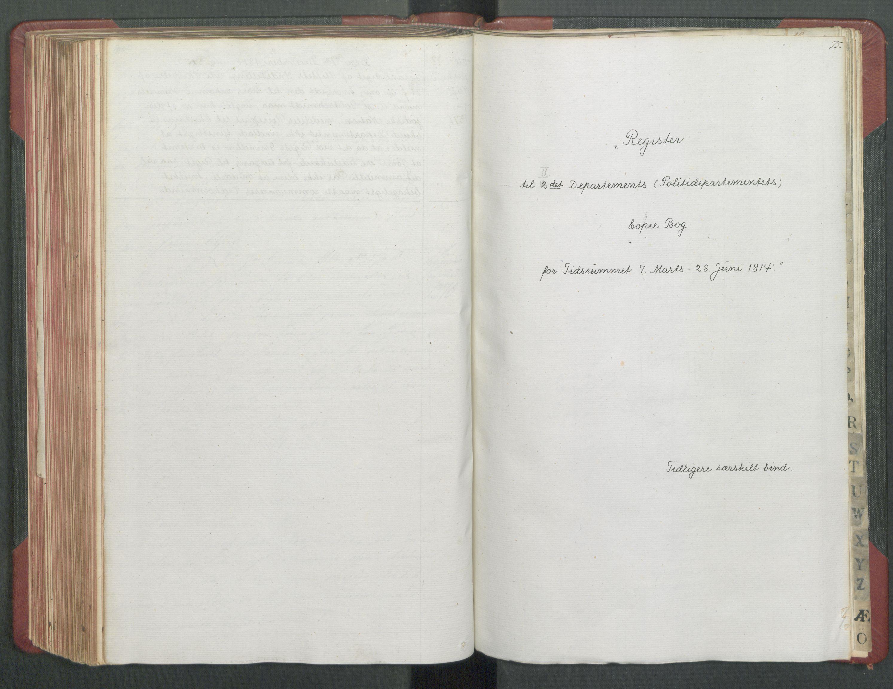 RA, Departementene i 1814, Fb/L0028: Kopibok 1-1371, 1814