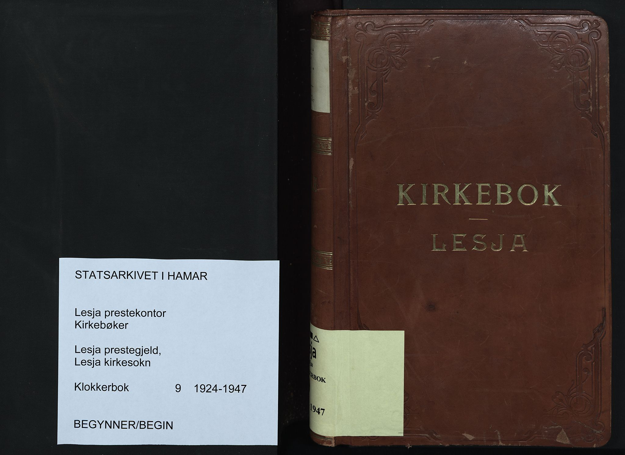 SAH, Lesja prestekontor, Klokkerbok nr. 9, 1924-1947