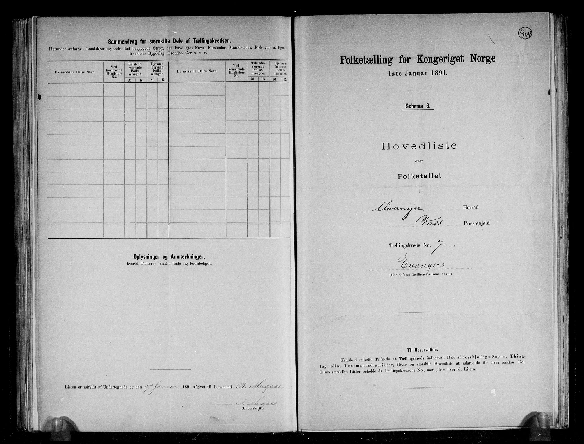 RA, Folketelling 1891 for 1237 Evanger herred, 1891, s. 17