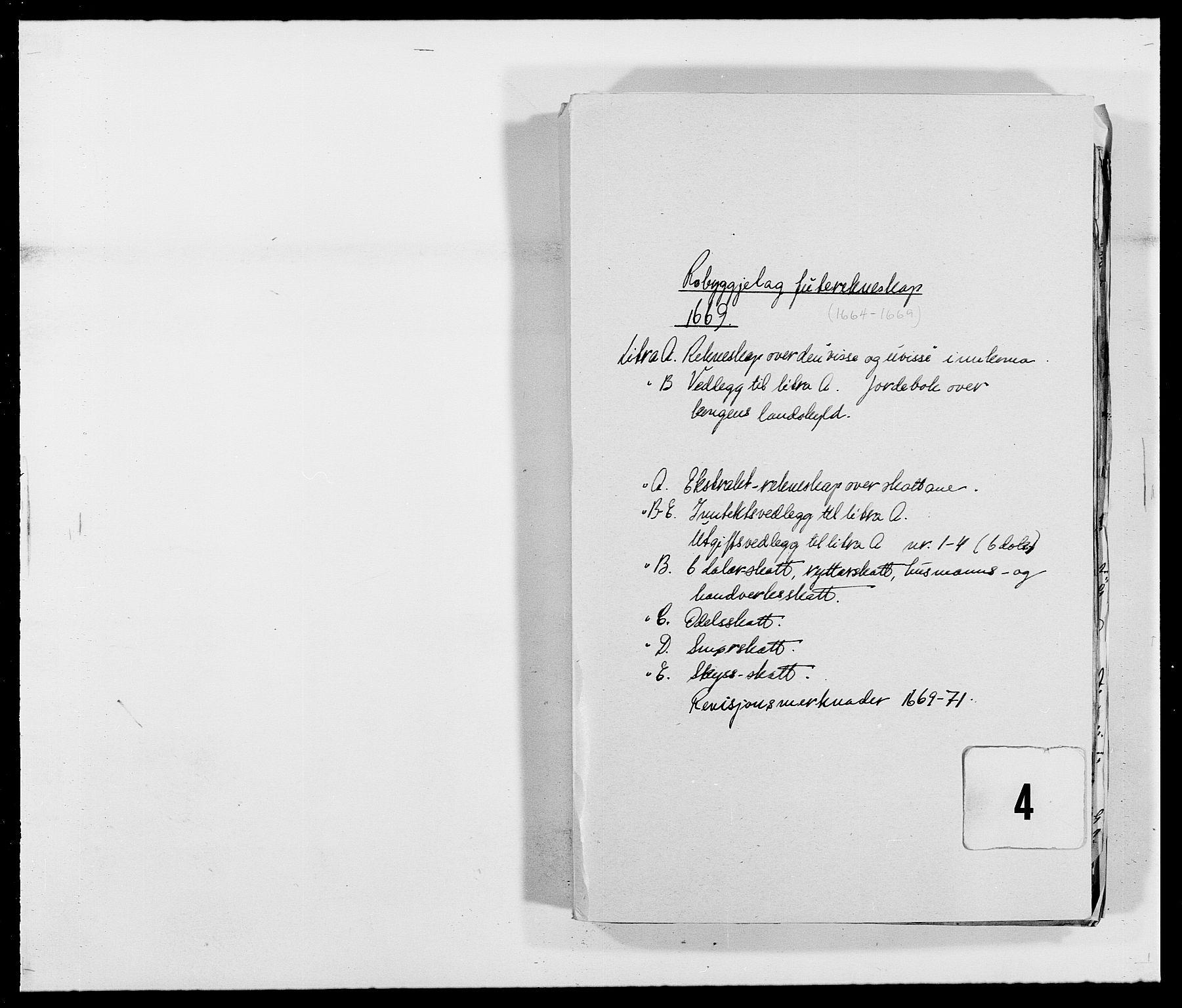 RA, Rentekammeret inntil 1814, Reviderte regnskaper, Fogderegnskap, R40/L2432: Fogderegnskap Råbyggelag, 1669-1670, s. 1