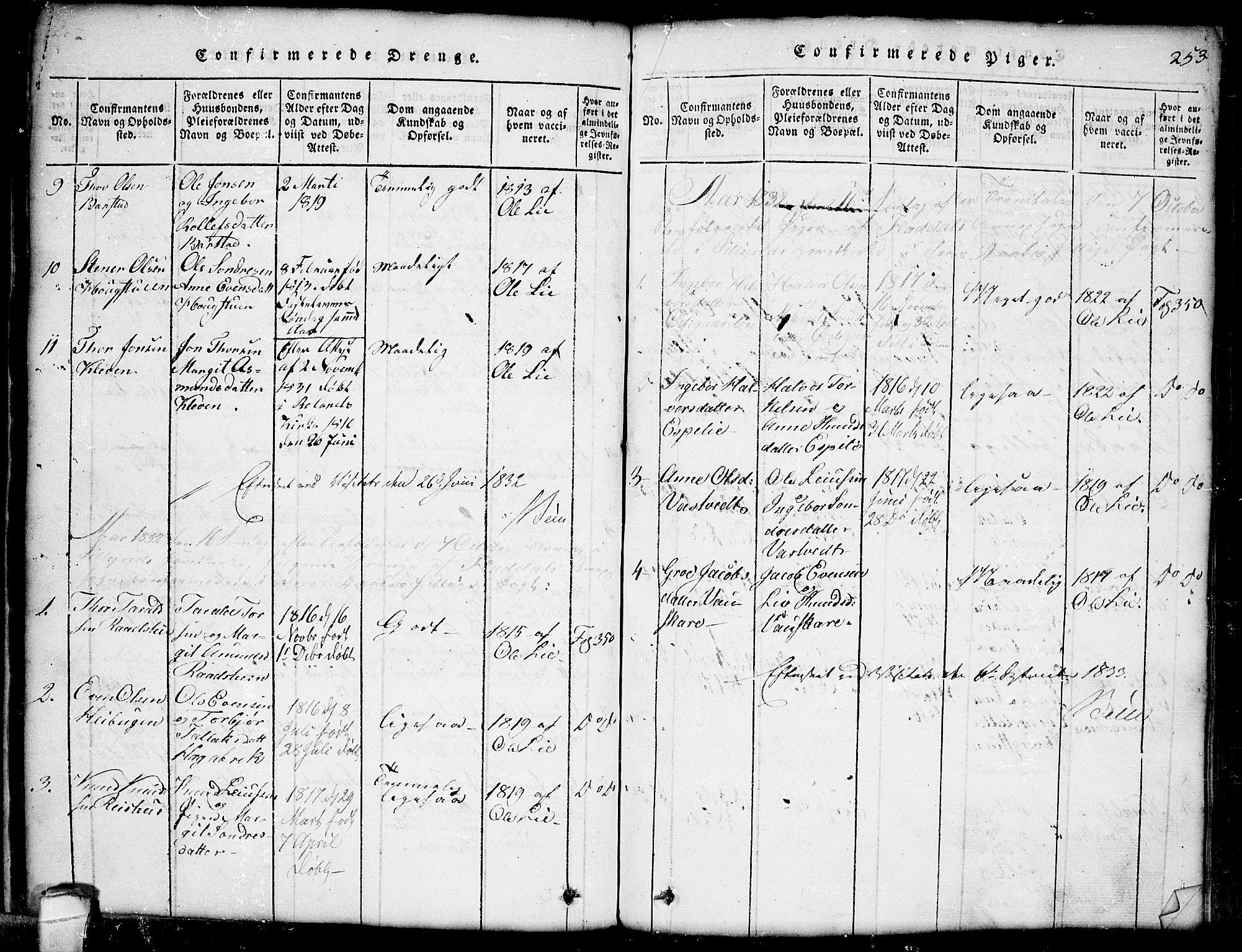 SAKO, Seljord kirkebøker, G/Gb/L0002: Klokkerbok nr. II 2, 1815-1854, s. 253