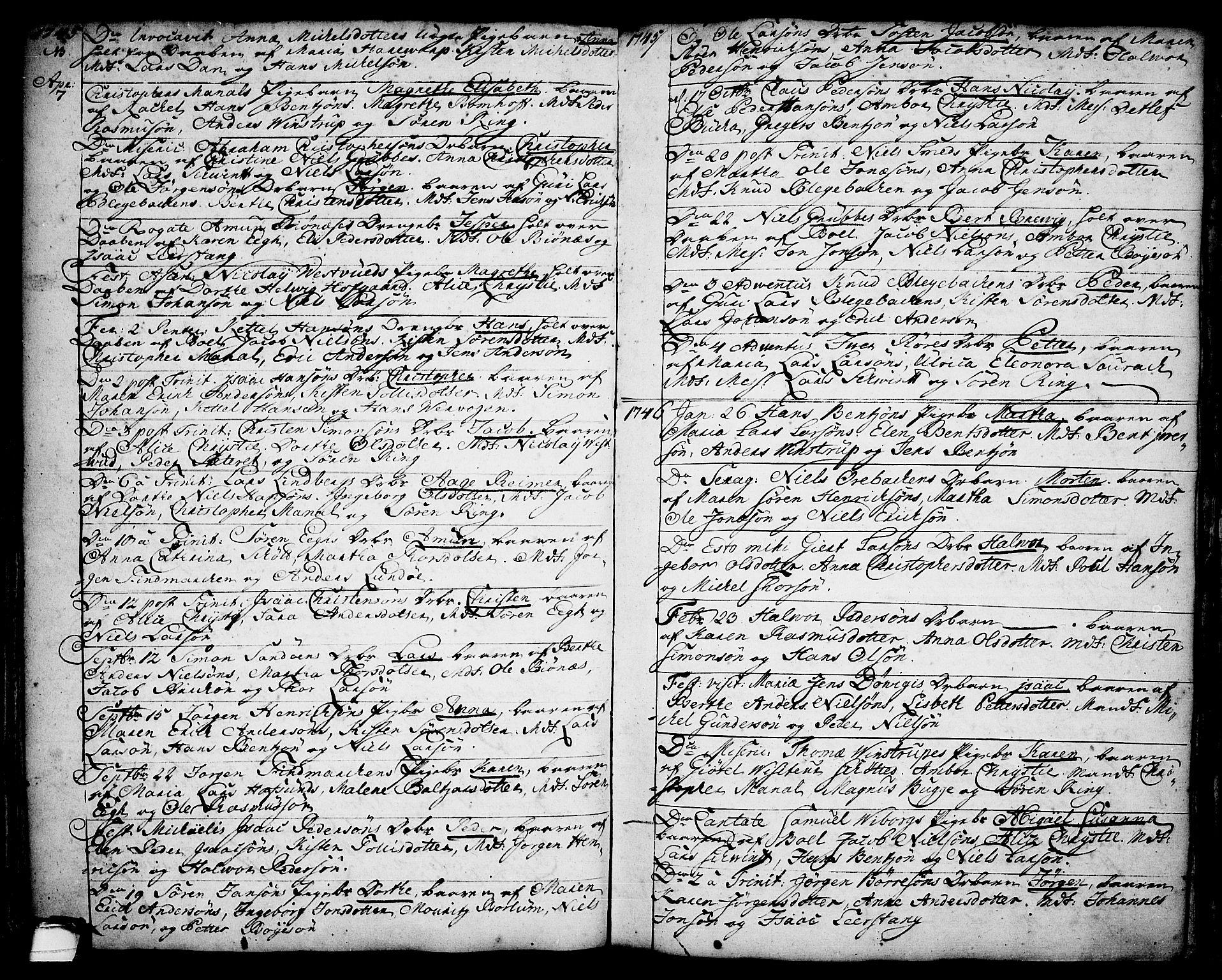 SAKO, Brevik kirkebøker, F/Fa/L0002: Ministerialbok nr. 2, 1720-1764, s. 34p