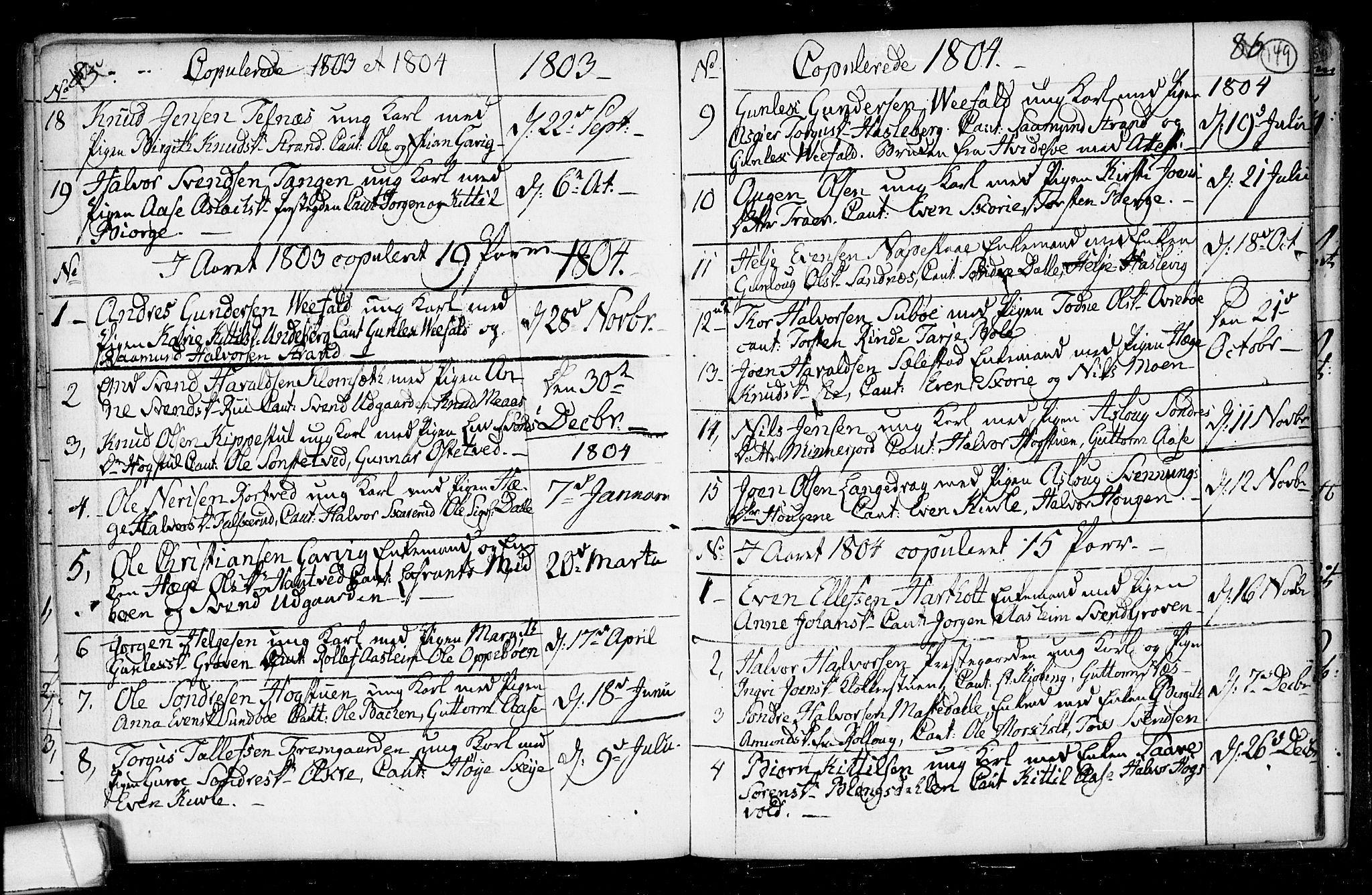 SAKO, Seljord kirkebøker, F/Fa/L0008: Ministerialbok nr. I 8, 1755-1814, s. 149