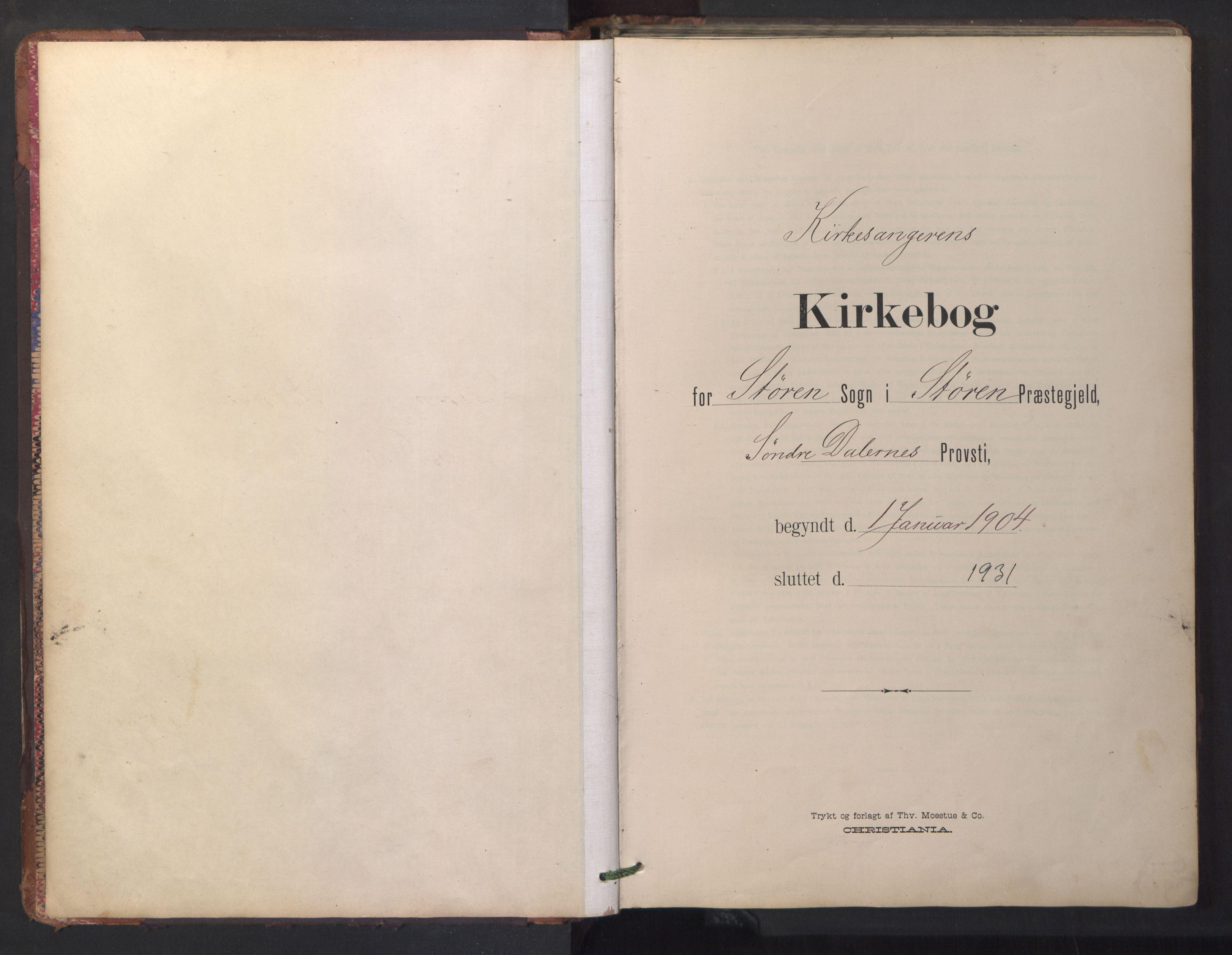 SAT, Ministerialprotokoller, klokkerbøker og fødselsregistre - Sør-Trøndelag, 687/L1019: Klokkerbok nr. 687C03, 1904-1931