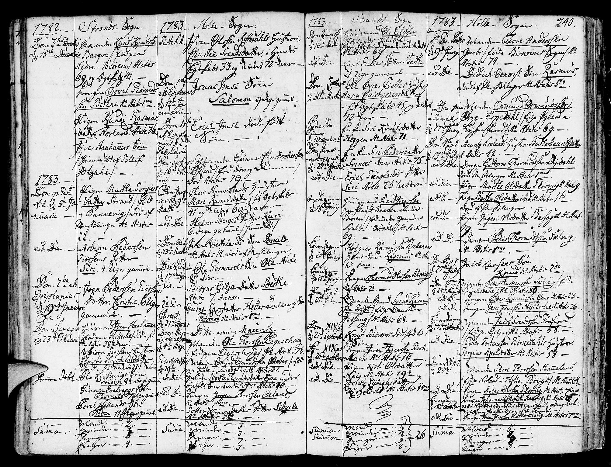 SAST, Strand sokneprestkontor, H/Ha/Haa/L0003: Ministerialbok nr. A 3, 1769-1816, s. 240