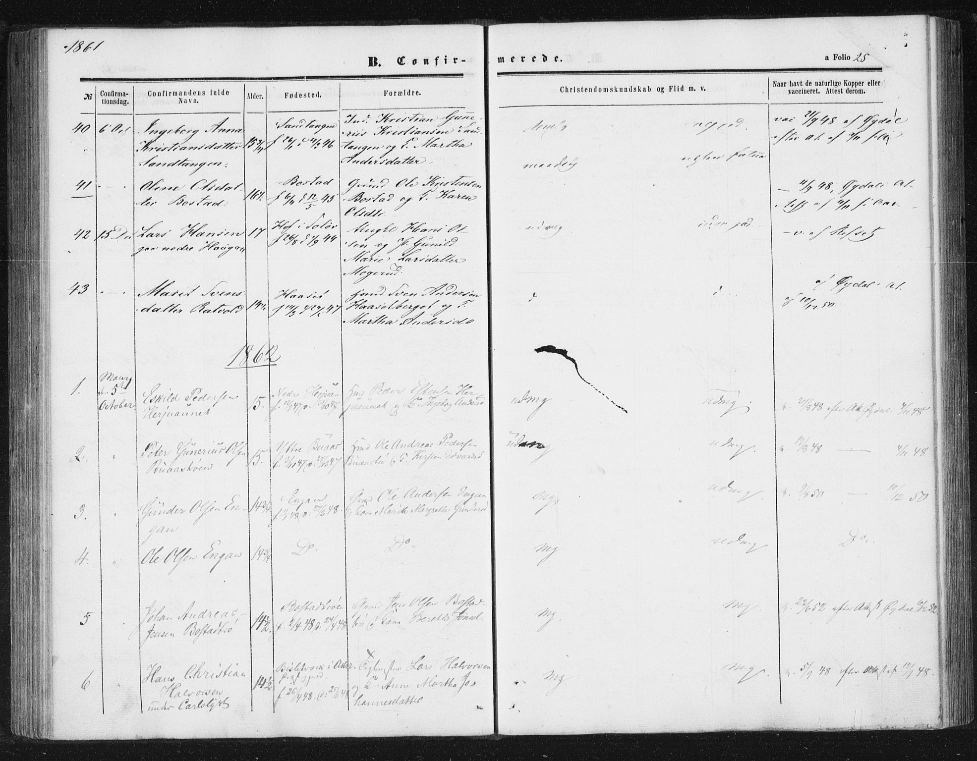 SAT, Ministerialprotokoller, klokkerbøker og fødselsregistre - Sør-Trøndelag, 616/L0408: Ministerialbok nr. 616A05, 1857-1865, s. 25