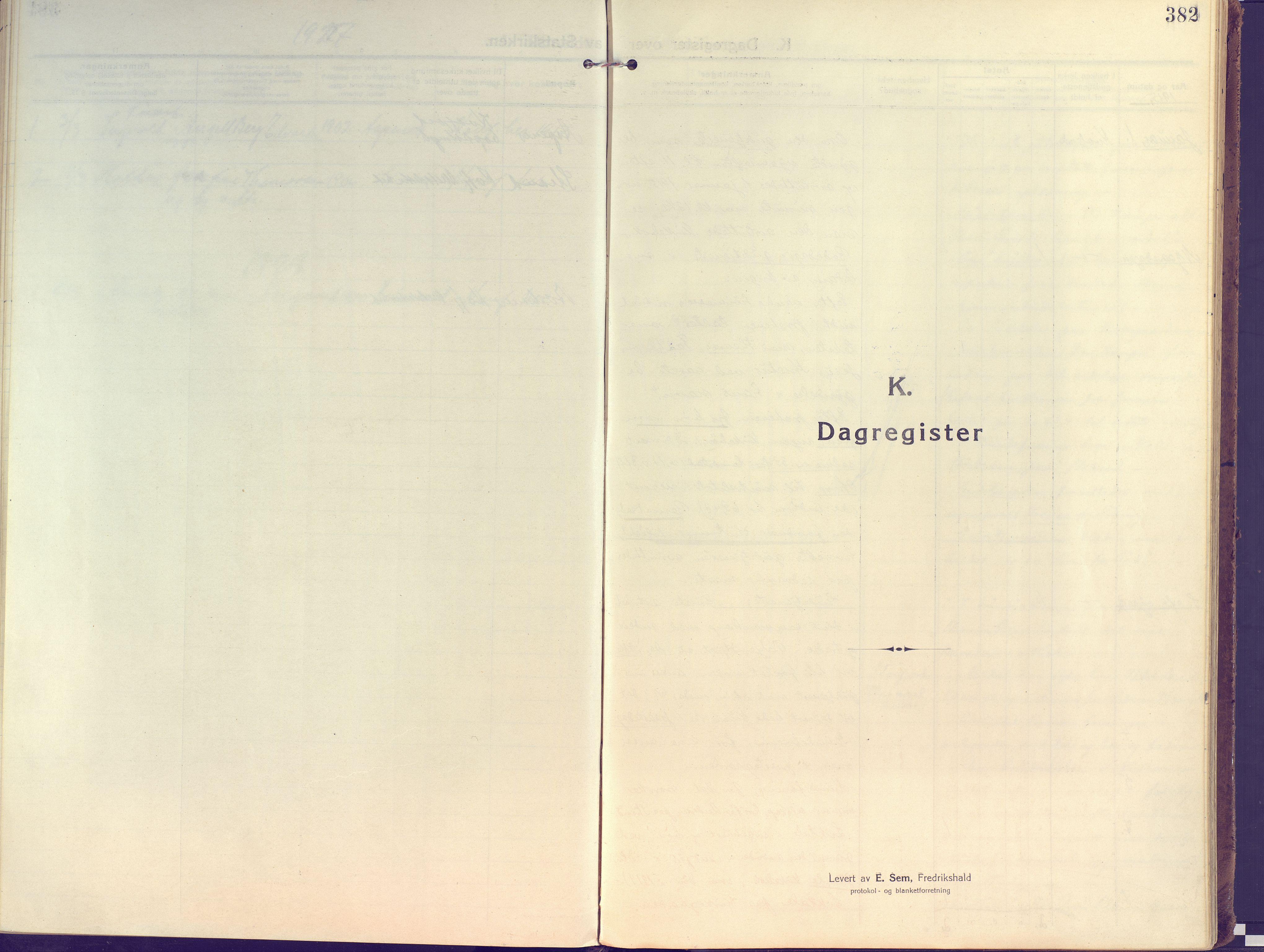 SATØ, Kvæfjord sokneprestkontor, G/Ga/Gaa/L0007kirke: Ministerialbok nr. 7, 1915-1931, s. 382