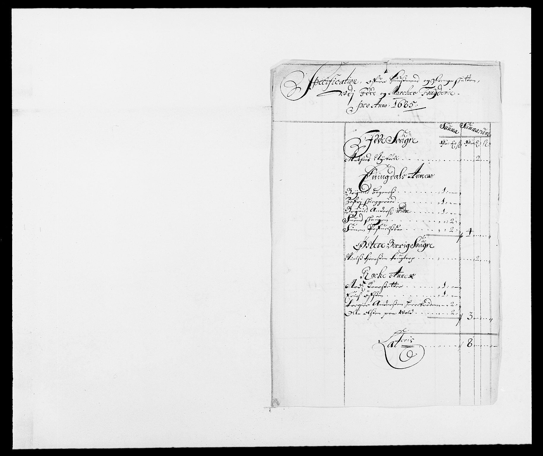 RA, Rentekammeret inntil 1814, Reviderte regnskaper, Fogderegnskap, R01/L0006: Fogderegnskap Idd og Marker, 1685-1686, s. 171
