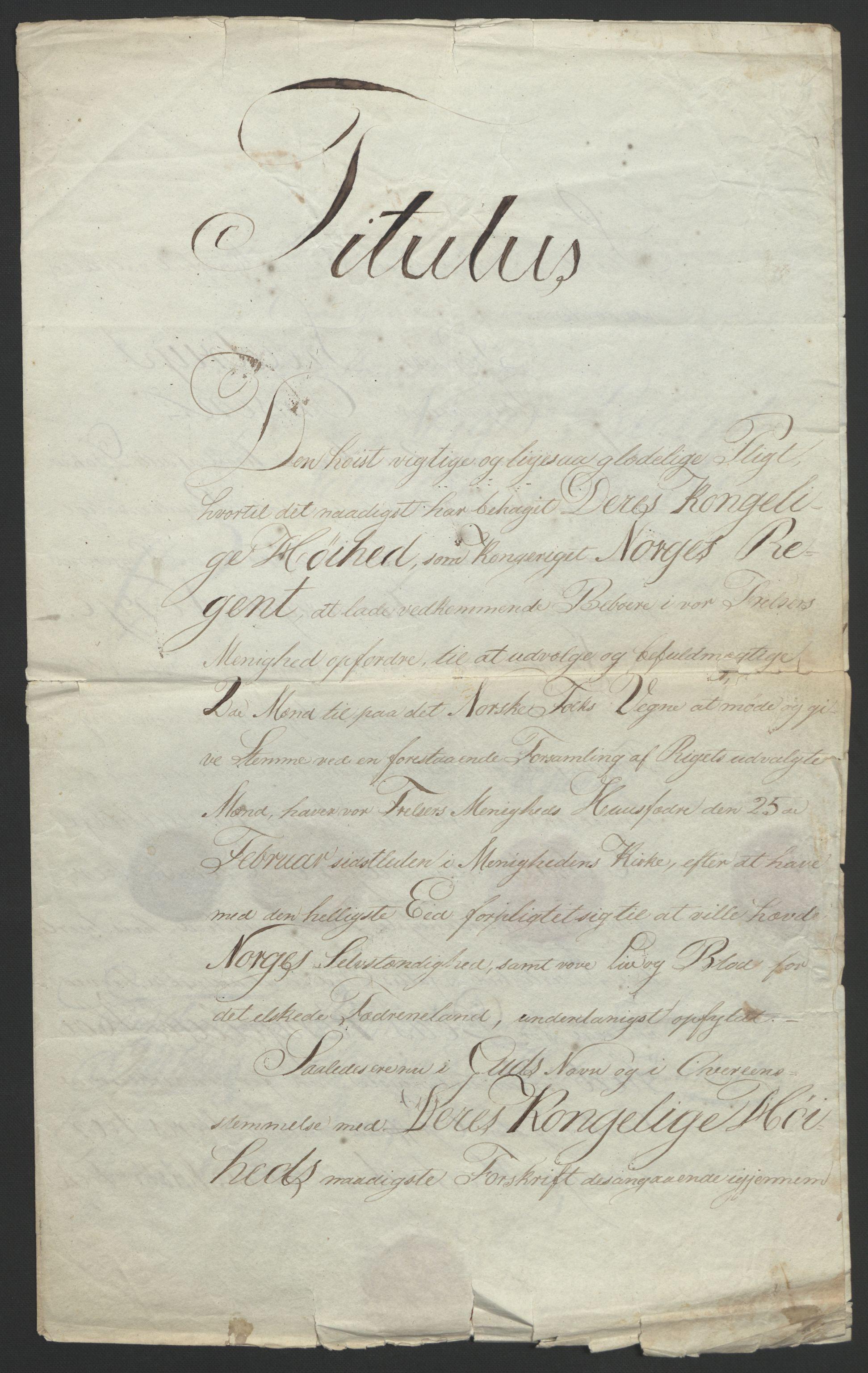 RA, Statsrådssekretariatet, D/Db/L0007: Fullmakter for Eidsvollsrepresentantene i 1814. , 1814, s. 28