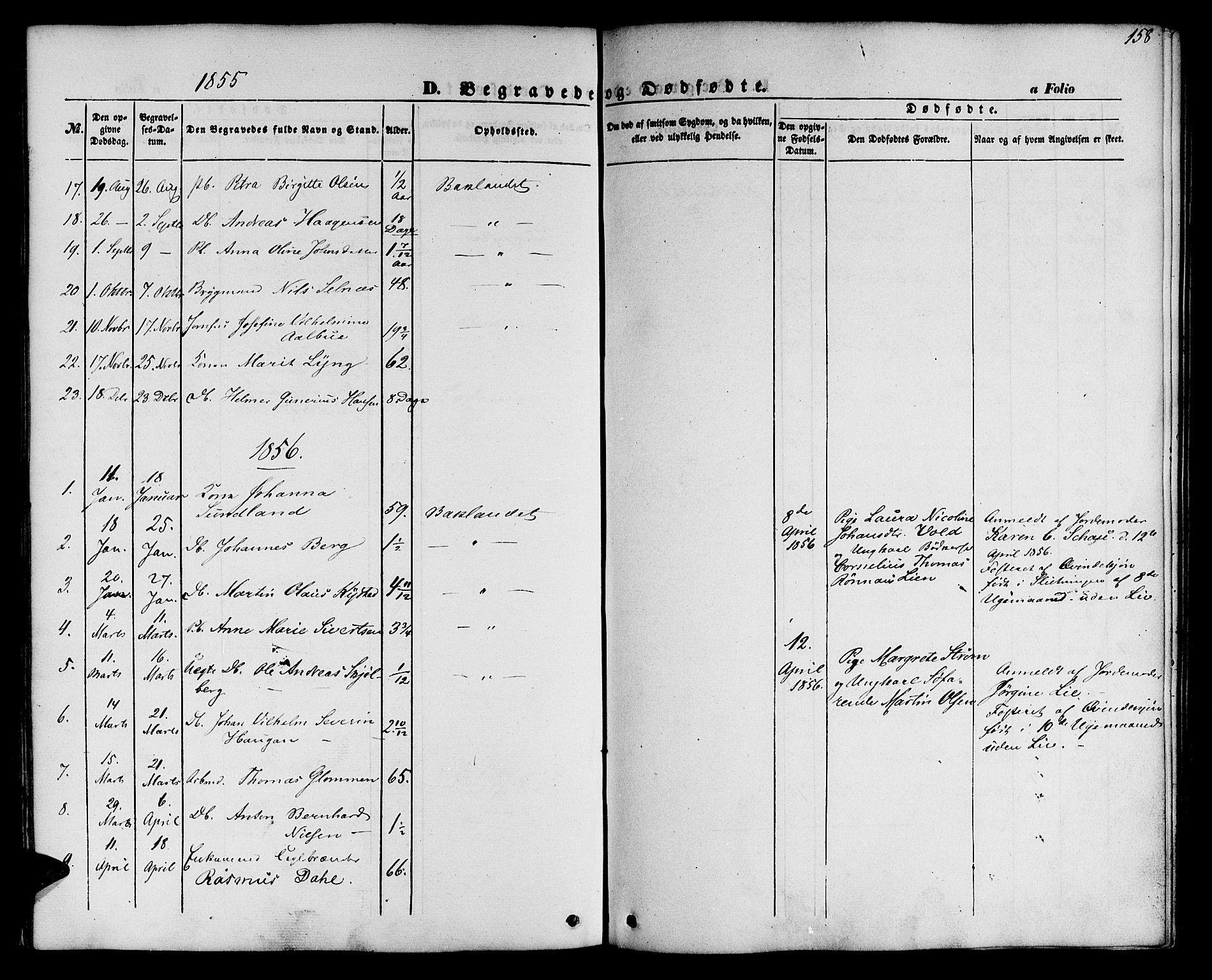 SAT, Ministerialprotokoller, klokkerbøker og fødselsregistre - Sør-Trøndelag, 604/L0184: Ministerialbok nr. 604A05, 1851-1860, s. 158