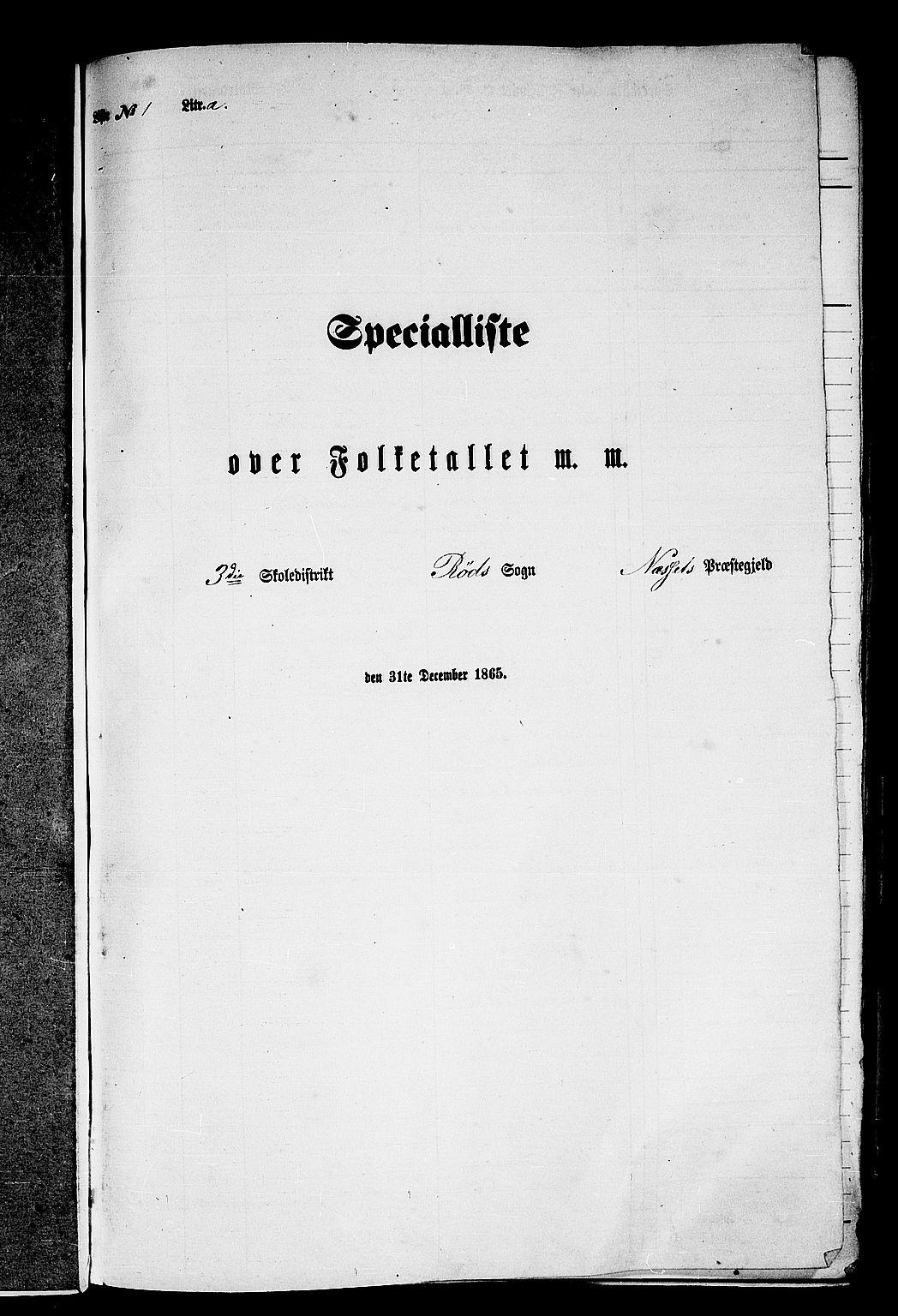 RA, Folketelling 1865 for 1543P Nesset prestegjeld, 1865, s. 11