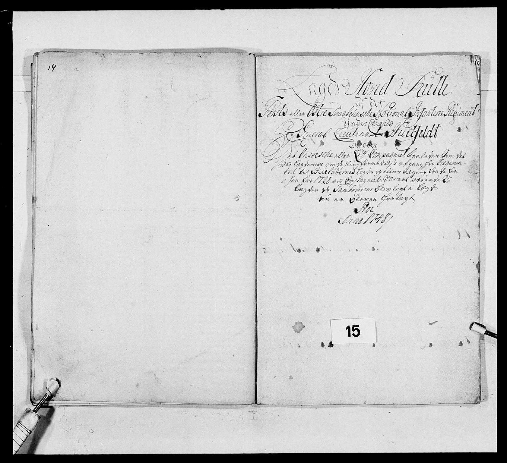 RA, Kommanderende general (KG I) med Det norske krigsdirektorium, E/Ea/L0495: 1. Smålenske regiment, 1732-1763, s. 167