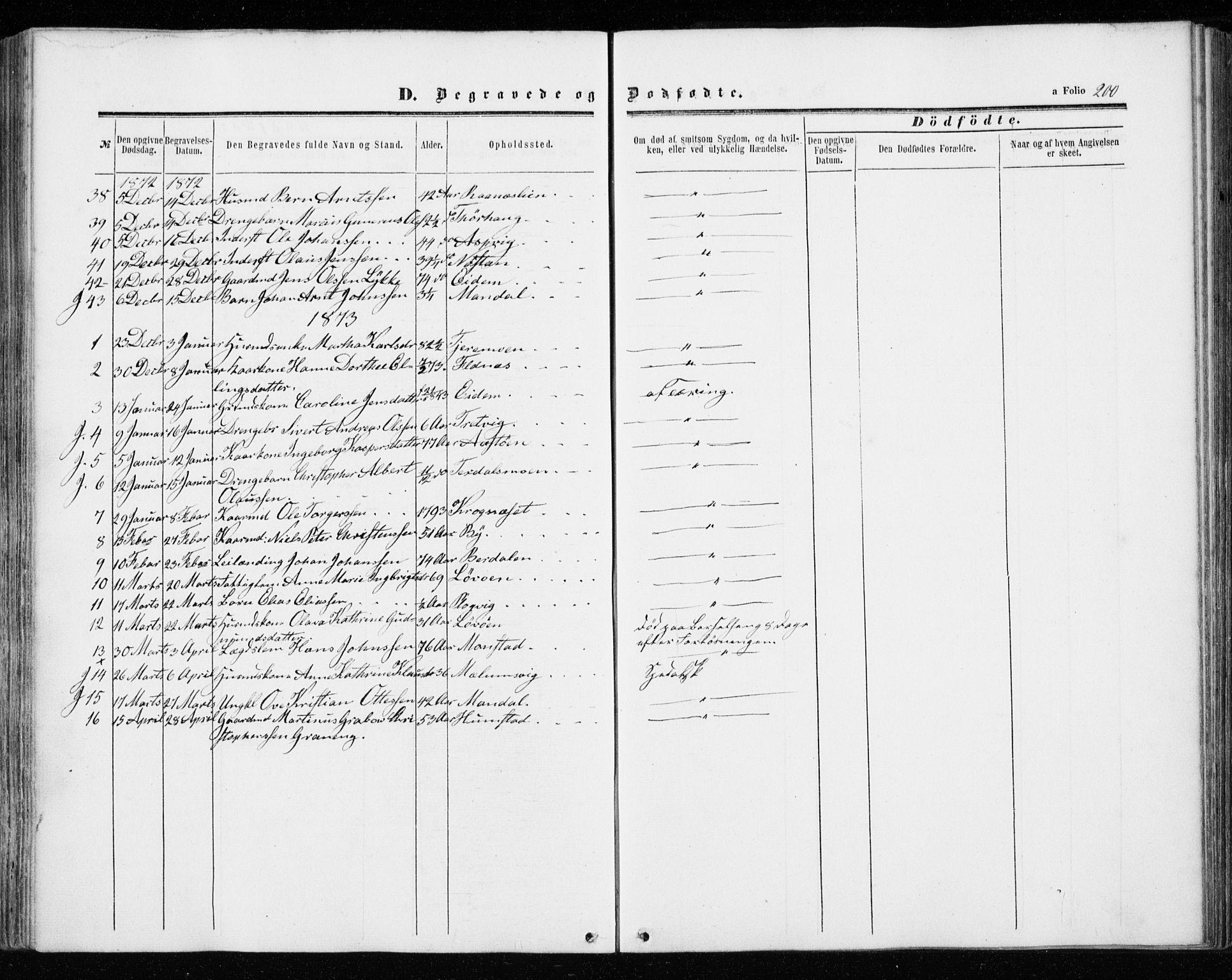 SAT, Ministerialprotokoller, klokkerbøker og fødselsregistre - Sør-Trøndelag, 655/L0678: Ministerialbok nr. 655A07, 1861-1873, s. 200