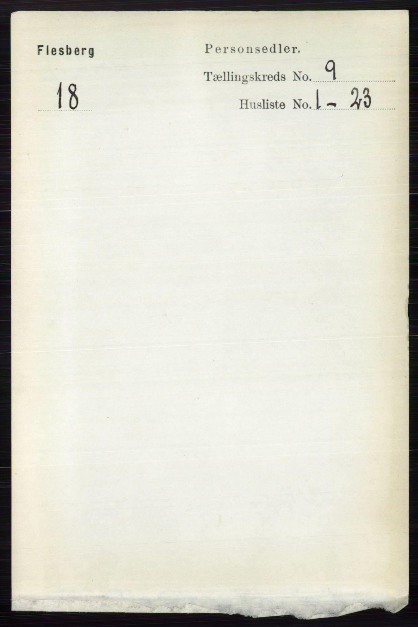 RA, Folketelling 1891 for 0631 Flesberg herred, 1891, s. 1525