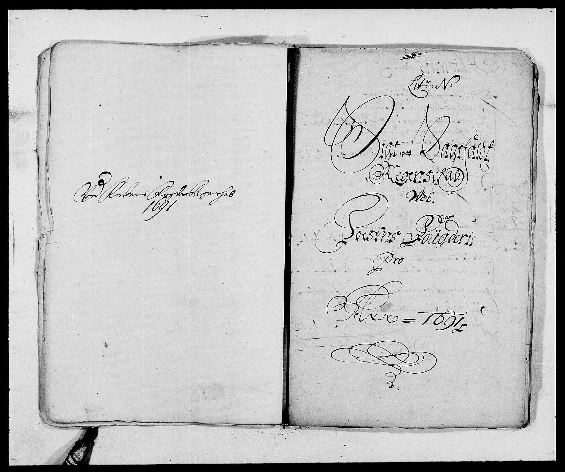 RA, Rentekammeret inntil 1814, Reviderte regnskaper, Fogderegnskap, R57/L3848: Fogderegnskap Fosen, 1690-1691, s. 334