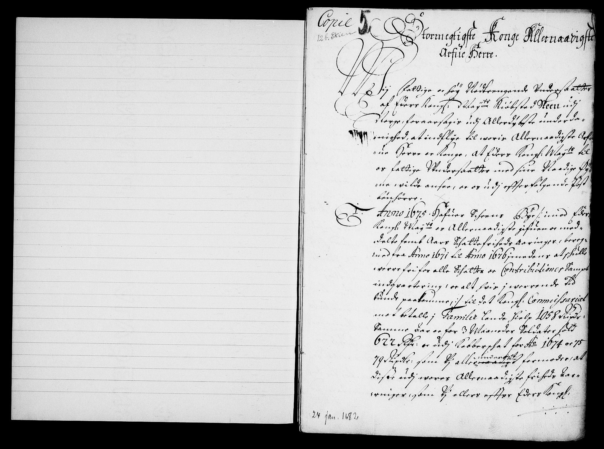 RA, Danske Kanselli, Skapsaker, G/L0019: Tillegg til skapsakene, 1616-1753, s. 98