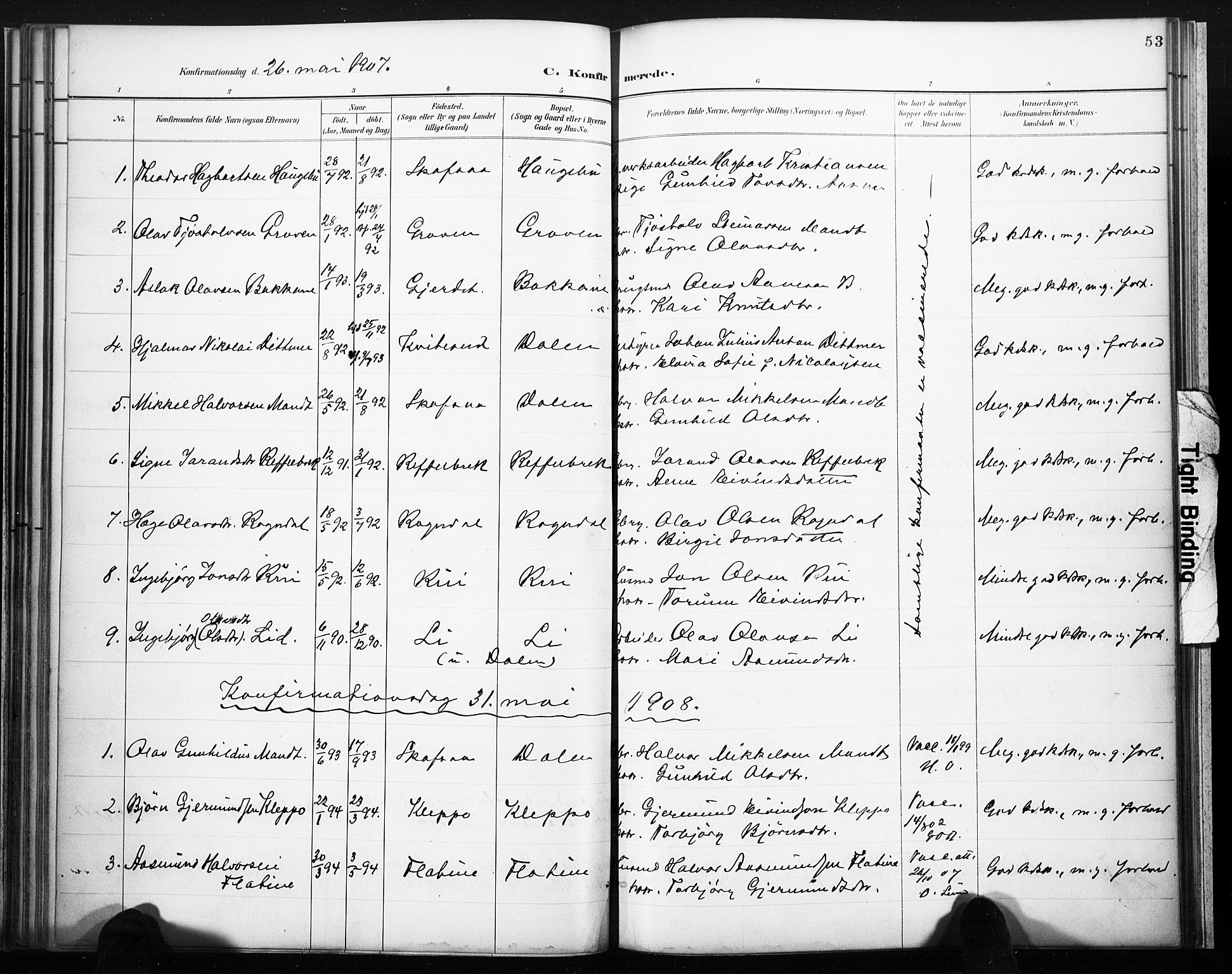 SAKO, Lårdal kirkebøker, F/Fb/L0002: Ministerialbok nr. II 2, 1887-1918, s. 53