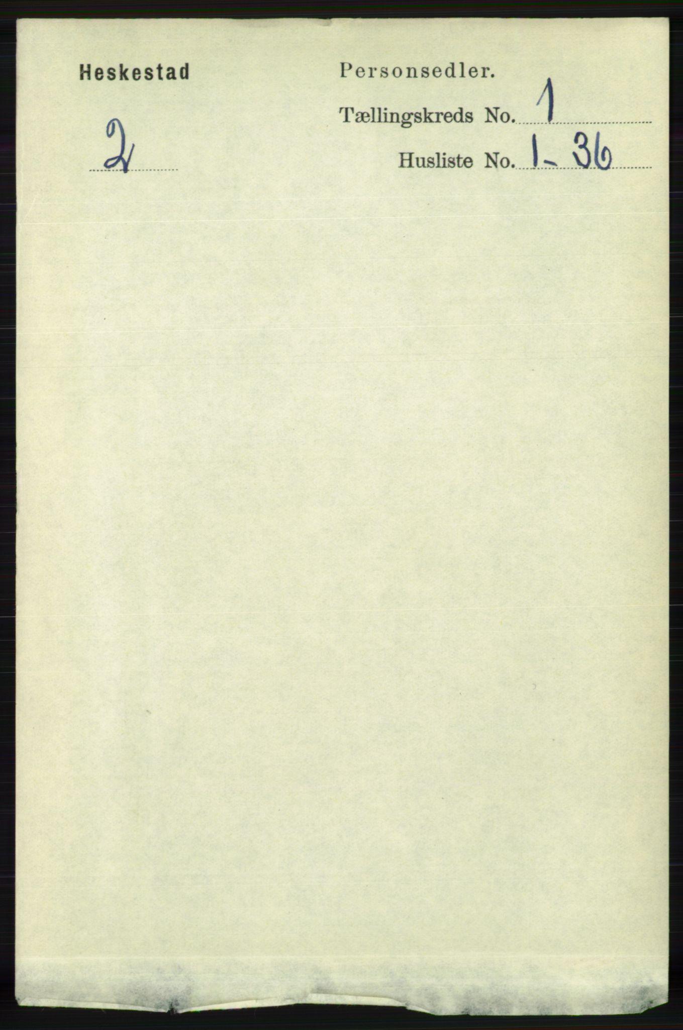 RA, Folketelling 1891 for 1113 Heskestad herred, 1891, s. 56