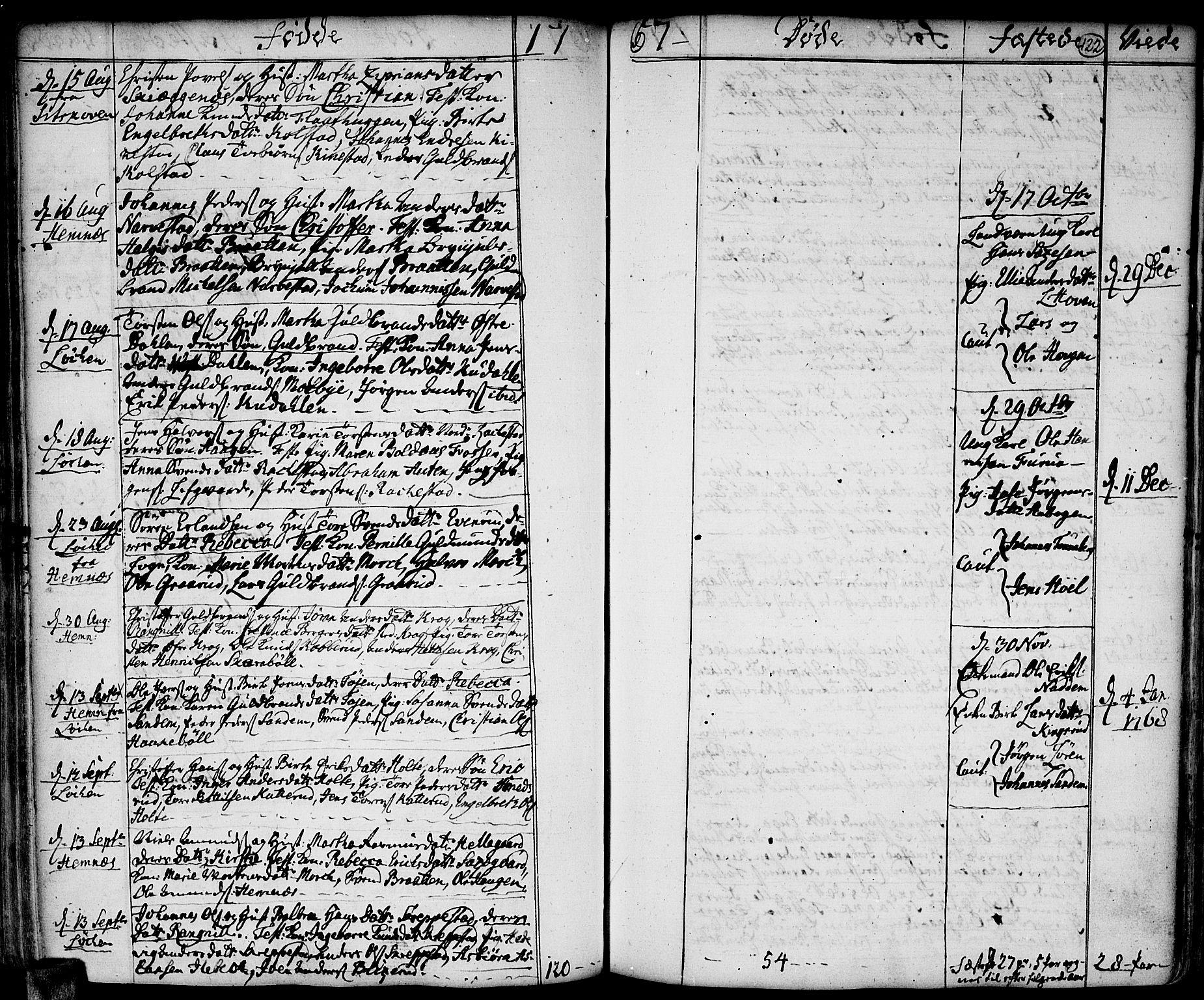 SAO, Høland prestekontor Kirkebøker, F/Fa/L0004: Ministerialbok nr. I 4, 1757-1780, s. 122