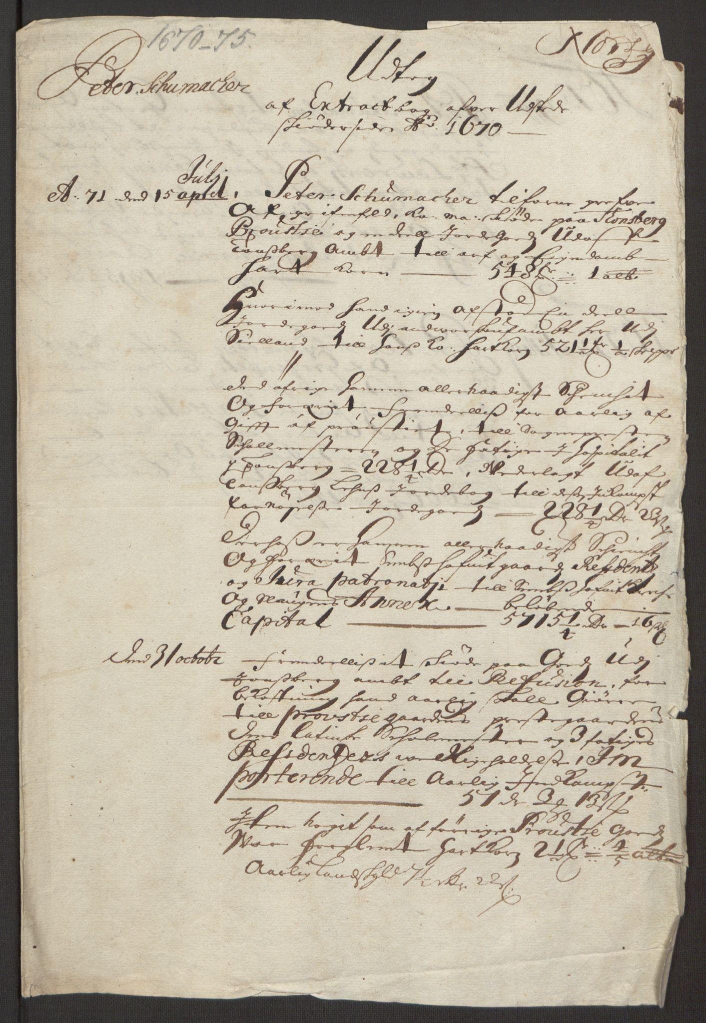 RA, Rentekammeret inntil 1814, Reviderte regnskaper, Fogderegnskap, R32/L1844: Fogderegnskap Jarlsberg grevskap, 1674-1675, s. 379