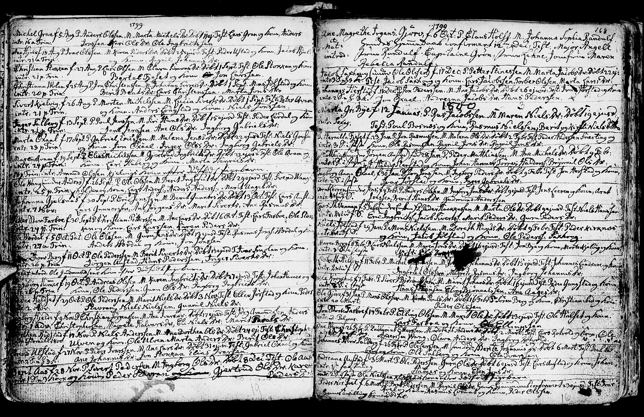 SAT, Ministerialprotokoller, klokkerbøker og fødselsregistre - Nord-Trøndelag, 730/L0273: Ministerialbok nr. 730A02, 1762-1802, s. 168