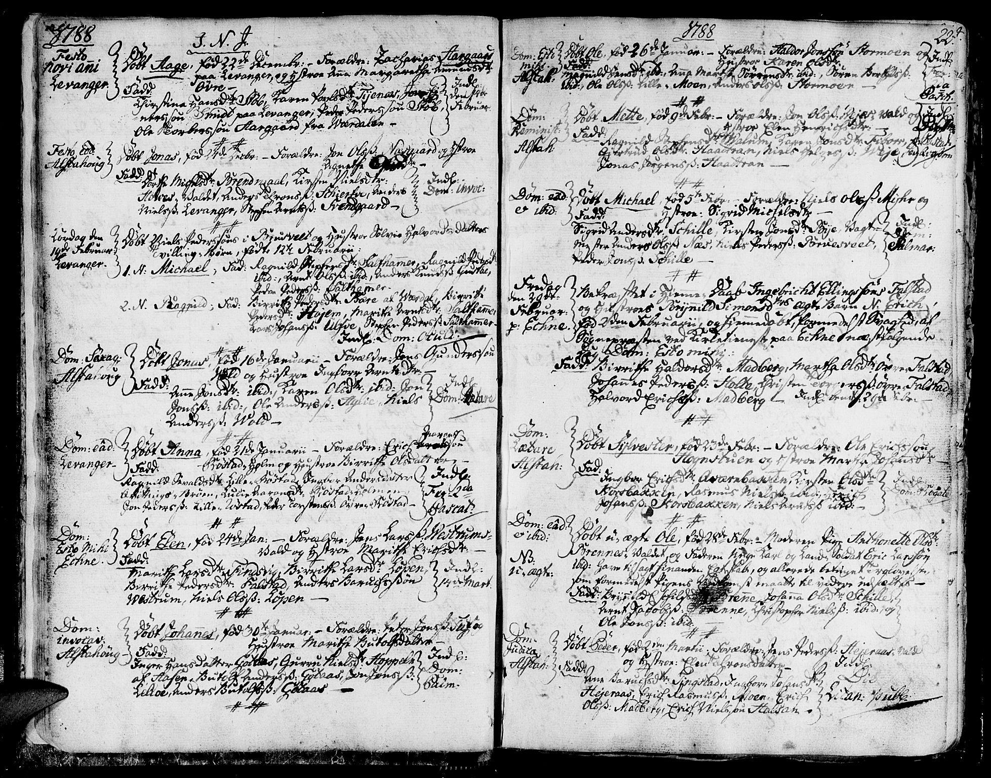 SAT, Ministerialprotokoller, klokkerbøker og fødselsregistre - Nord-Trøndelag, 717/L0142: Ministerialbok nr. 717A02 /1, 1783-1809, s. 22