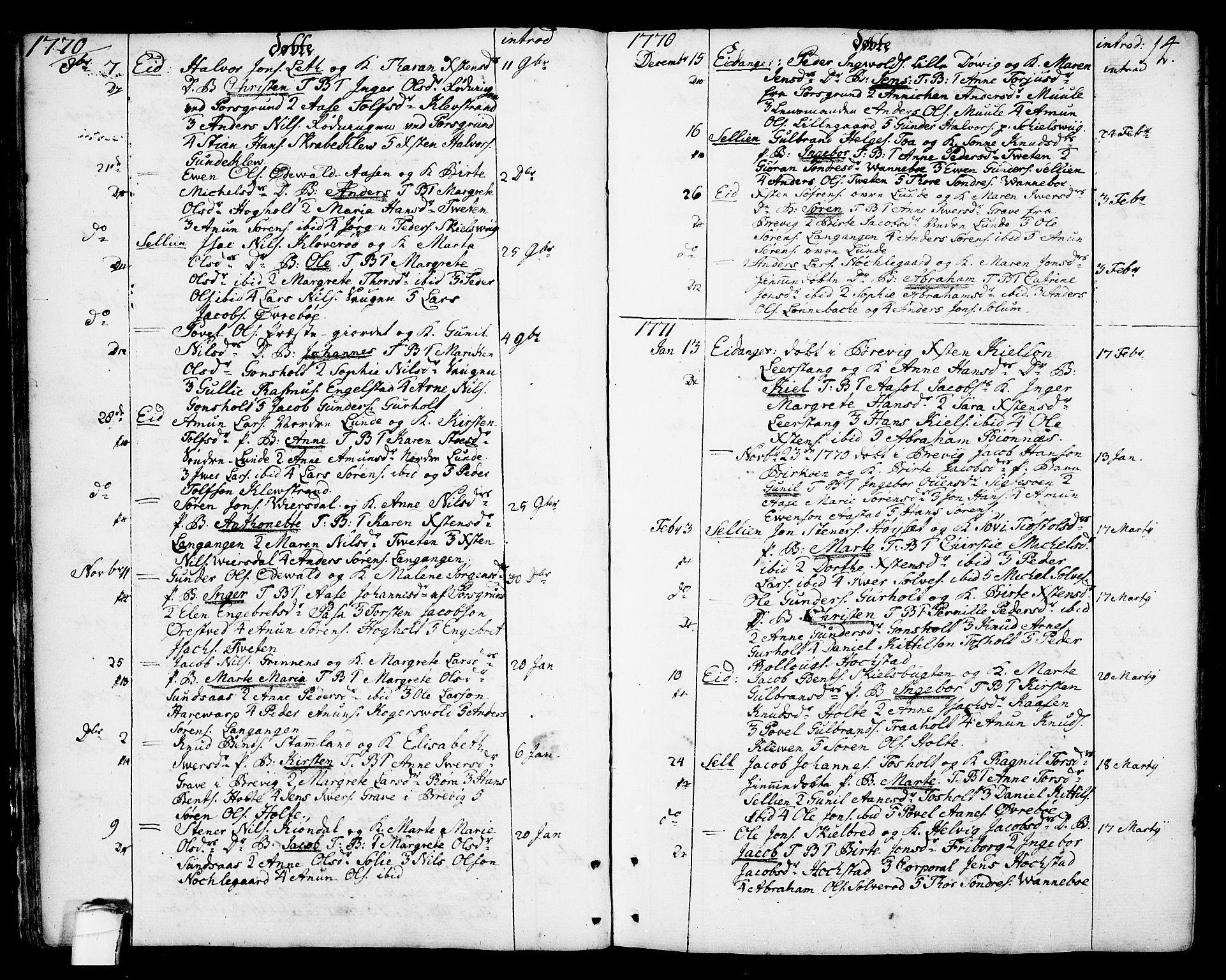 SAKO, Eidanger kirkebøker, F/Fa/L0006: Ministerialbok nr. 6, 1764-1814, s. 14