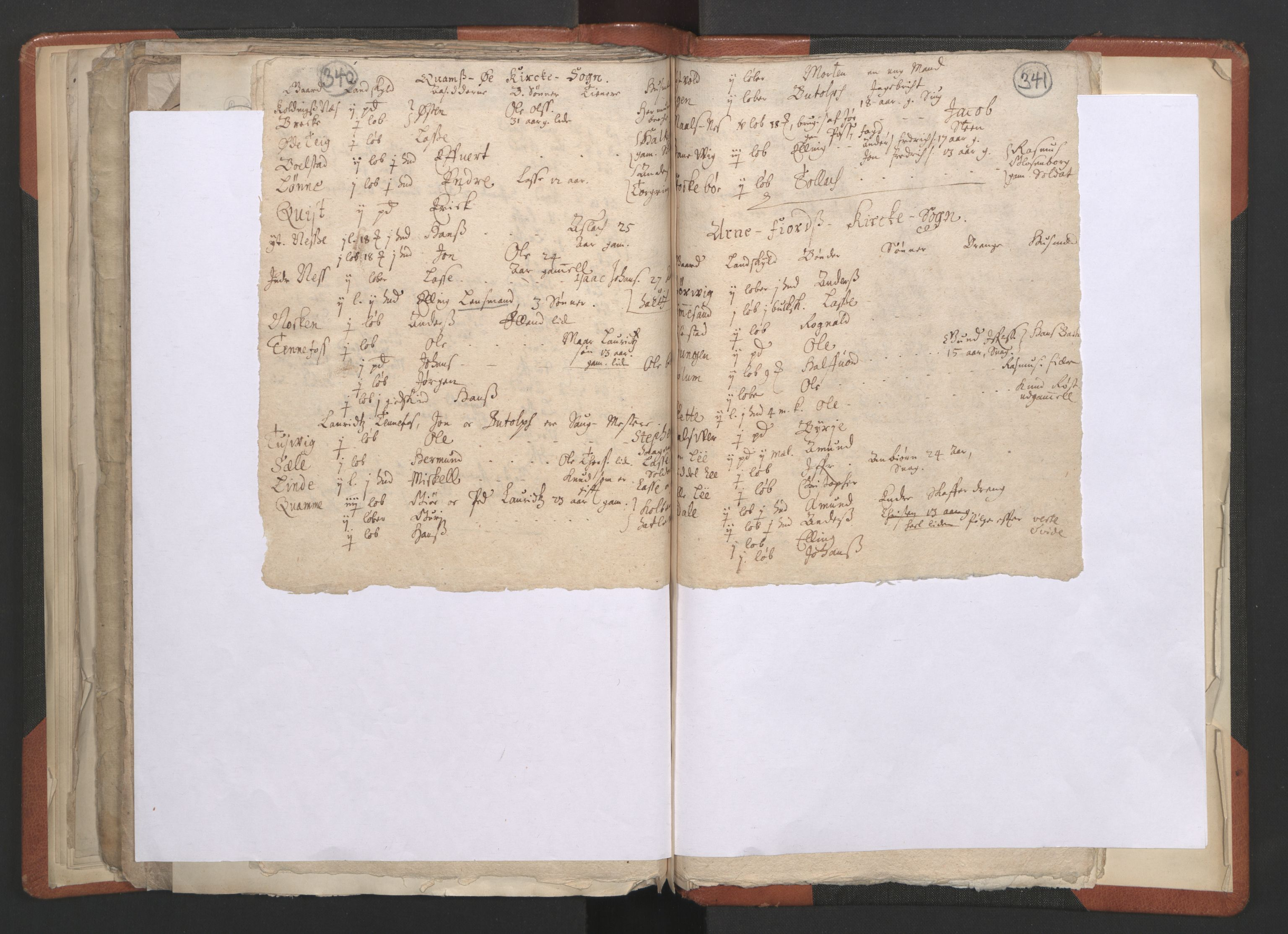 RA, Sogneprestenes manntall 1664-1666, nr. 23: Sogn prosti, 1664-1666, s. 340-341