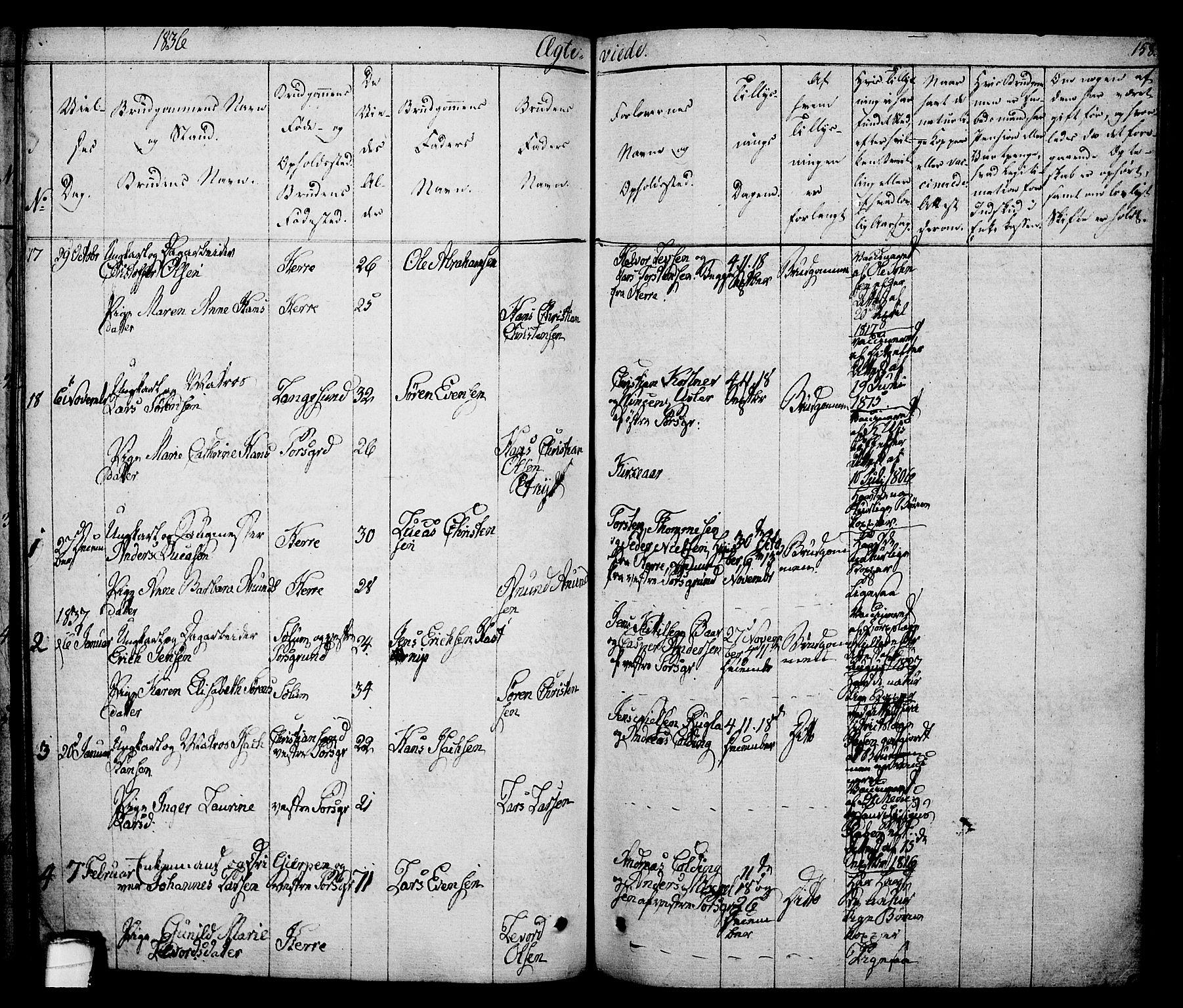 SAKO, Porsgrunn kirkebøker , F/Fa/L0005: Ministerialbok nr. 5, 1828-1840, s. 158