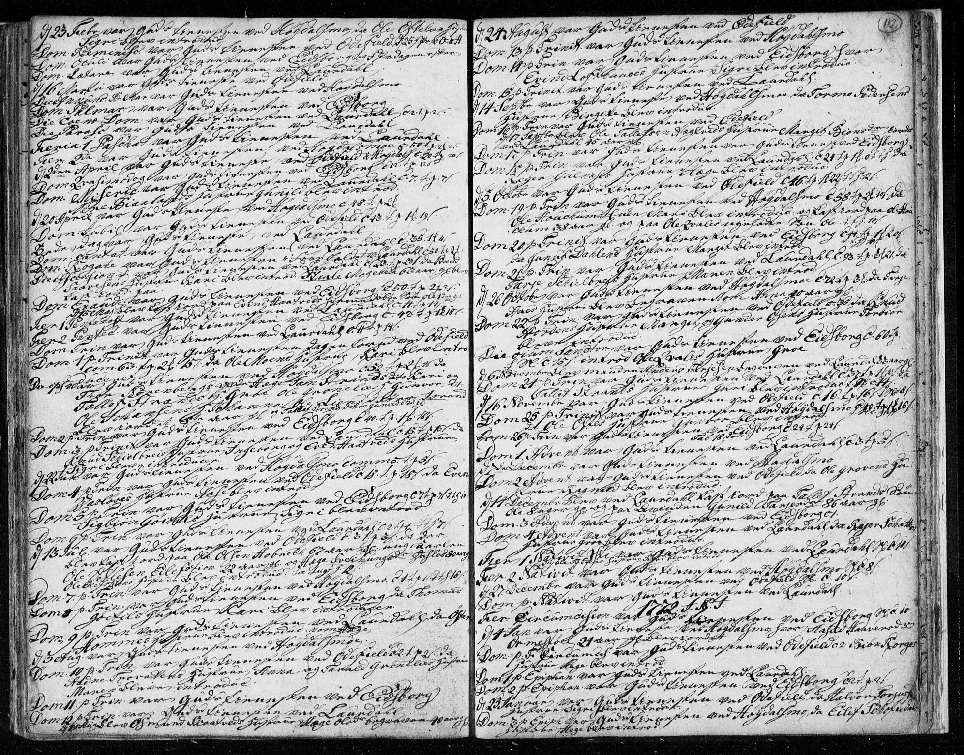 SAKO, Lårdal kirkebøker, F/Fa/L0003: Ministerialbok nr. I 3, 1754-1790, s. 112