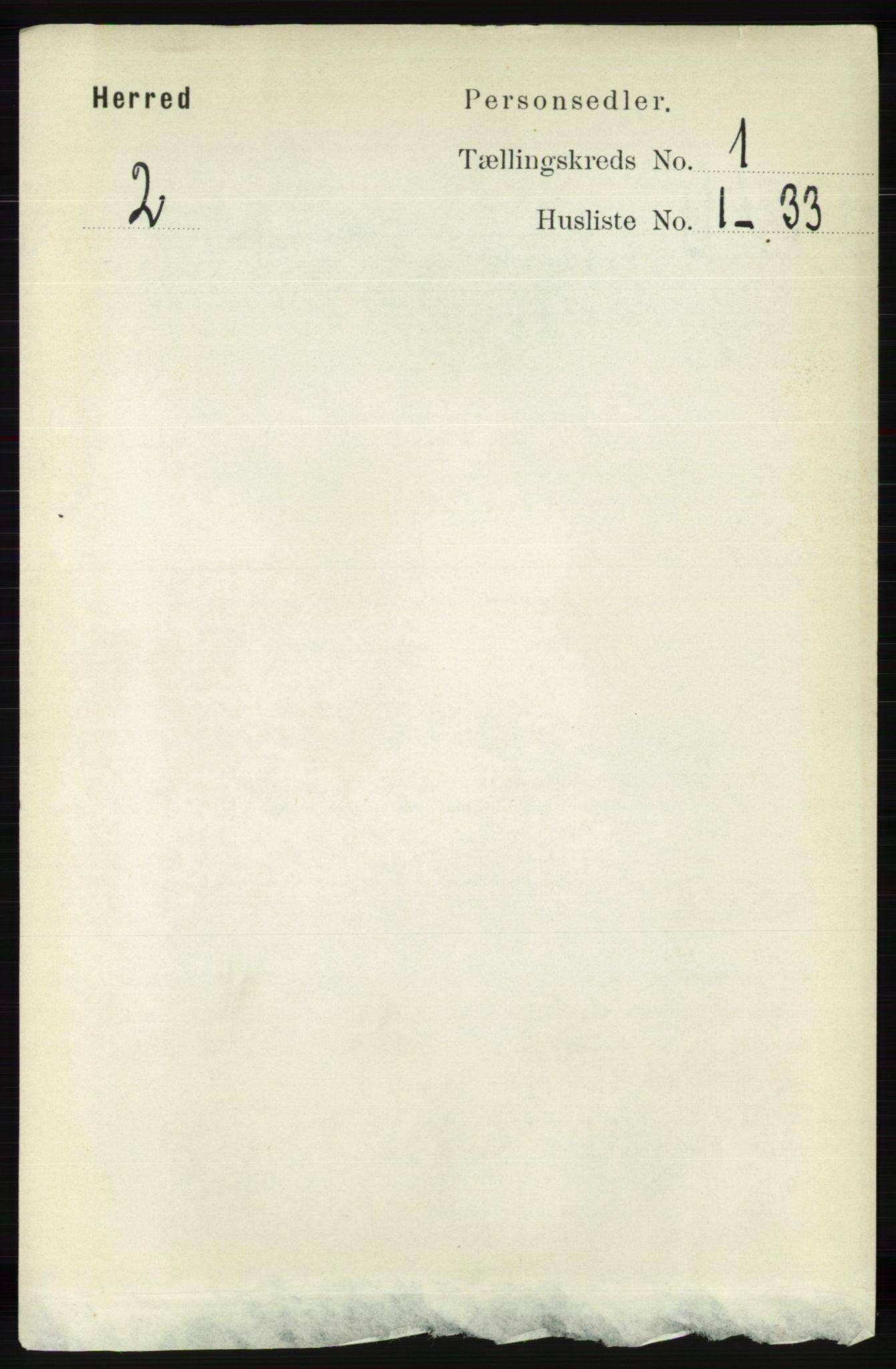 RA, Folketelling 1891 for 1039 Herad herred, 1891, s. 86