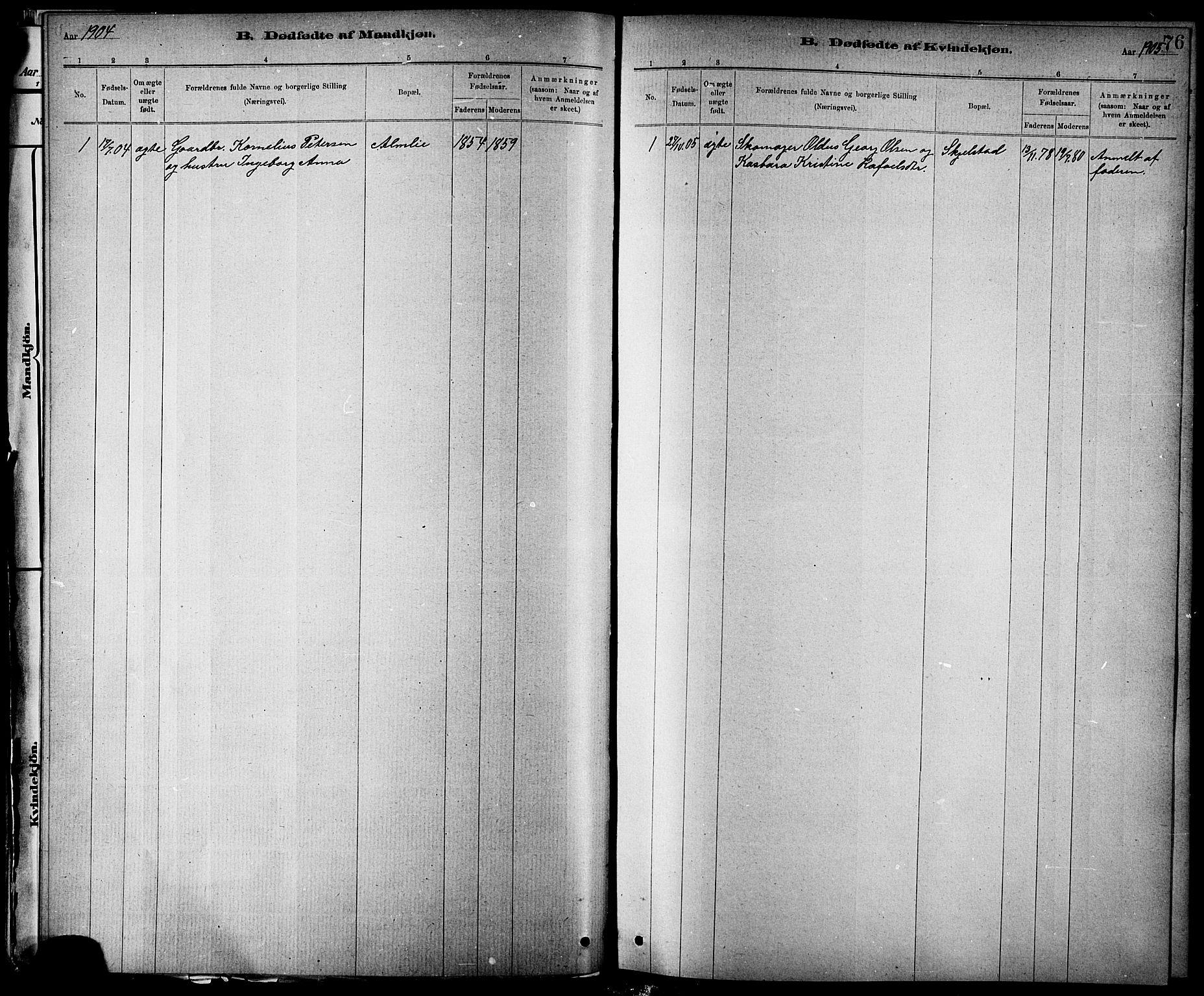 SAT, Ministerialprotokoller, klokkerbøker og fødselsregistre - Nord-Trøndelag, 744/L0423: Klokkerbok nr. 744C02, 1886-1905, s. 76