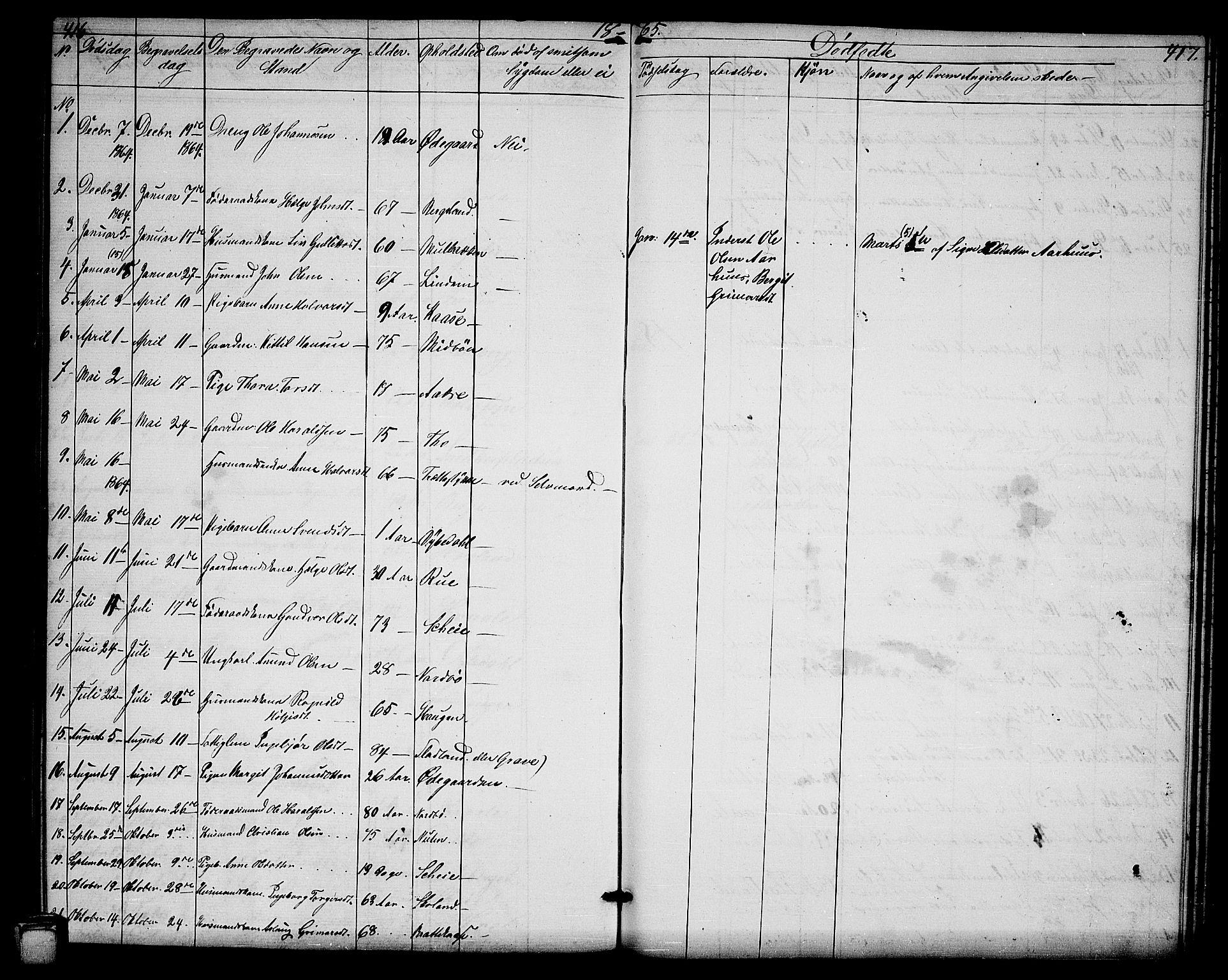 SAKO, Hjartdal kirkebøker, G/Ga/L0002: Klokkerbok nr. I 2, 1854-1888, s. 416-417