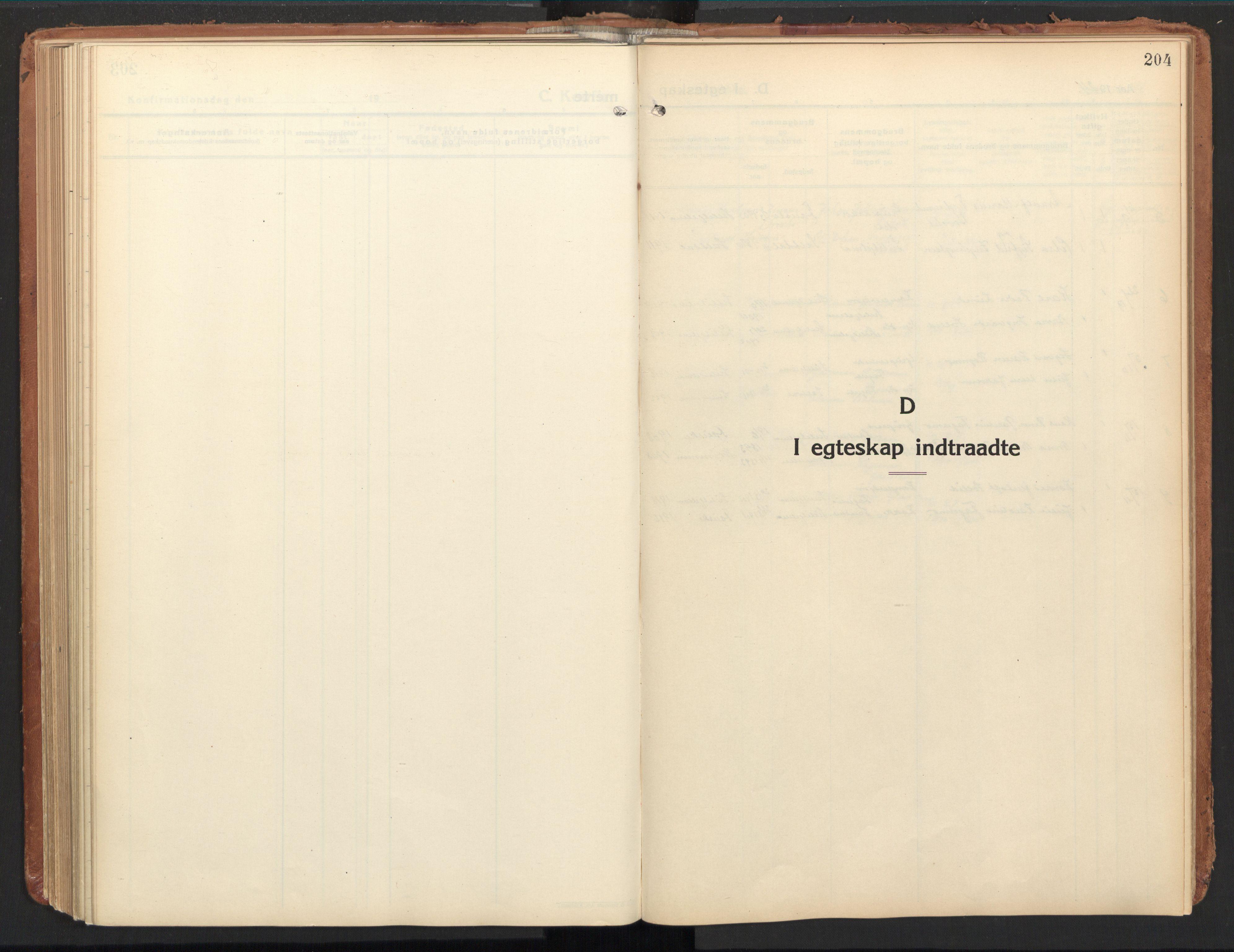 SAT, Ministerialprotokoller, klokkerbøker og fødselsregistre - Nordland, 850/L0716: Residerende kapellans bok nr. 850B06, 1924-1938, s. 204