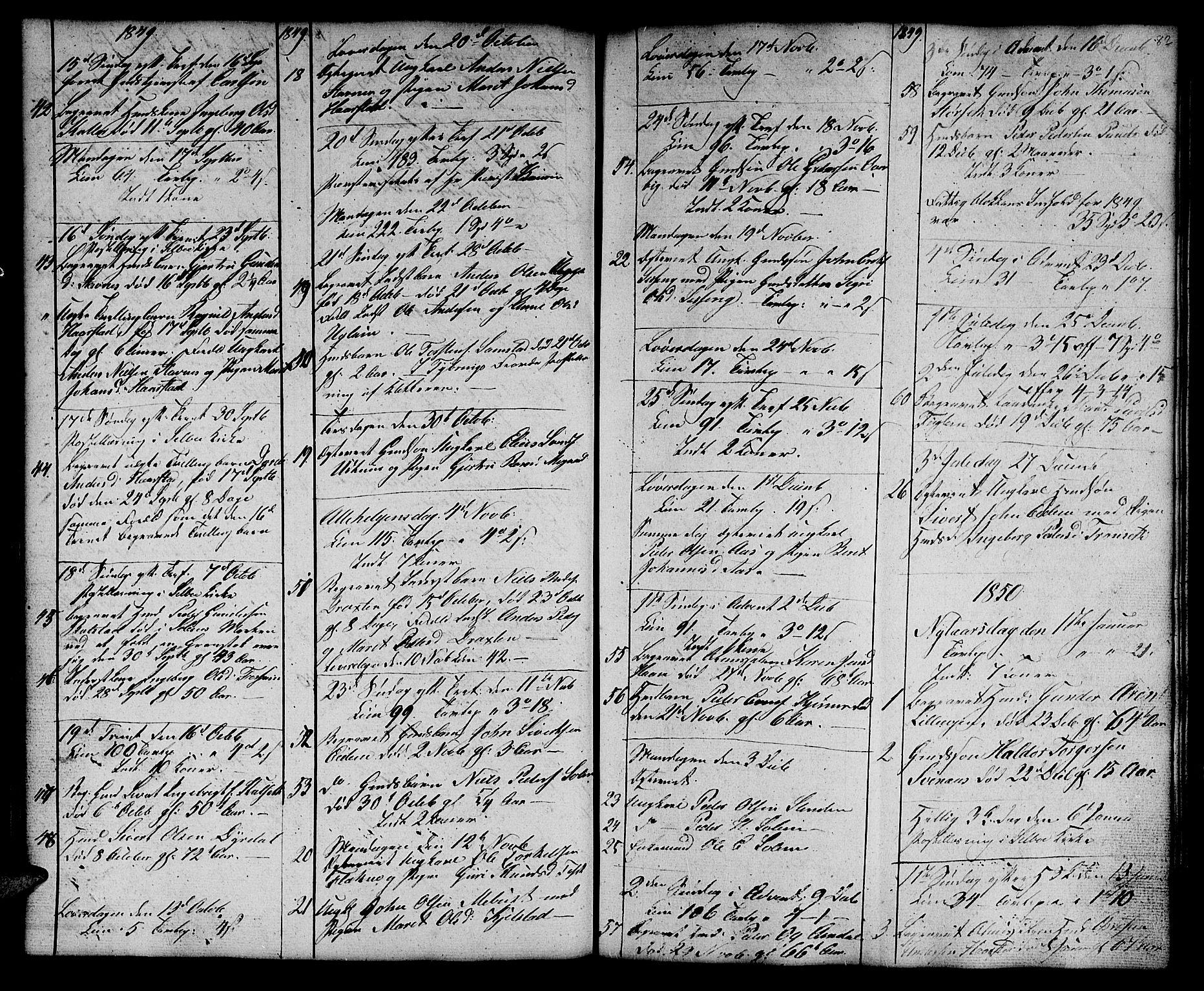 SAT, Ministerialprotokoller, klokkerbøker og fødselsregistre - Sør-Trøndelag, 695/L1154: Klokkerbok nr. 695C05, 1842-1858, s. 82