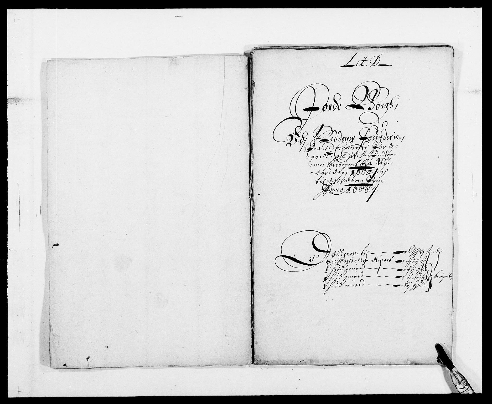 RA, Rentekammeret inntil 1814, Reviderte regnskaper, Fogderegnskap, R39/L2296: Fogderegnskap Nedenes, 1664-1666, s. 45