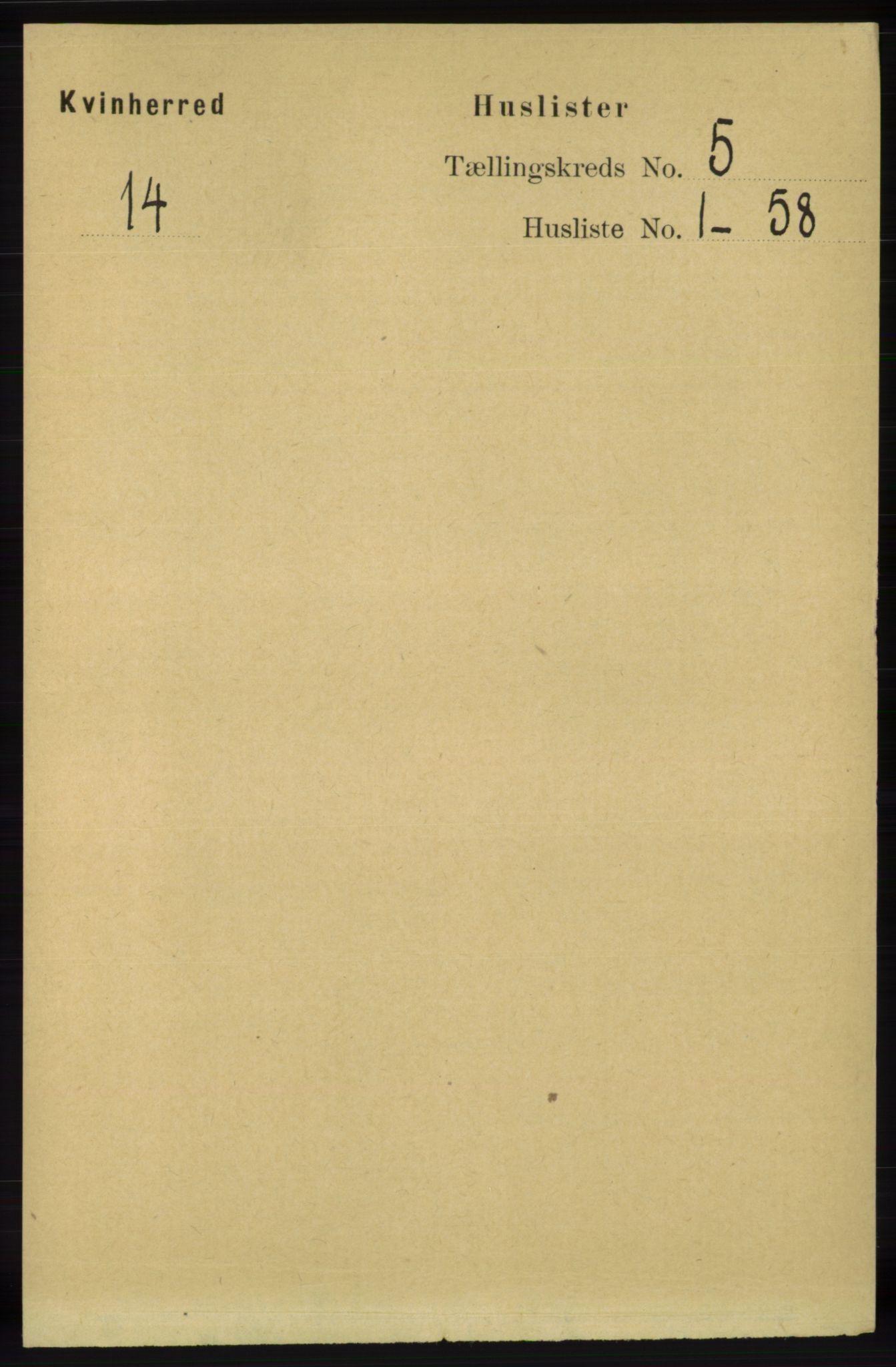 RA, Folketelling 1891 for 1224 Kvinnherad herred, 1891, s. 1681