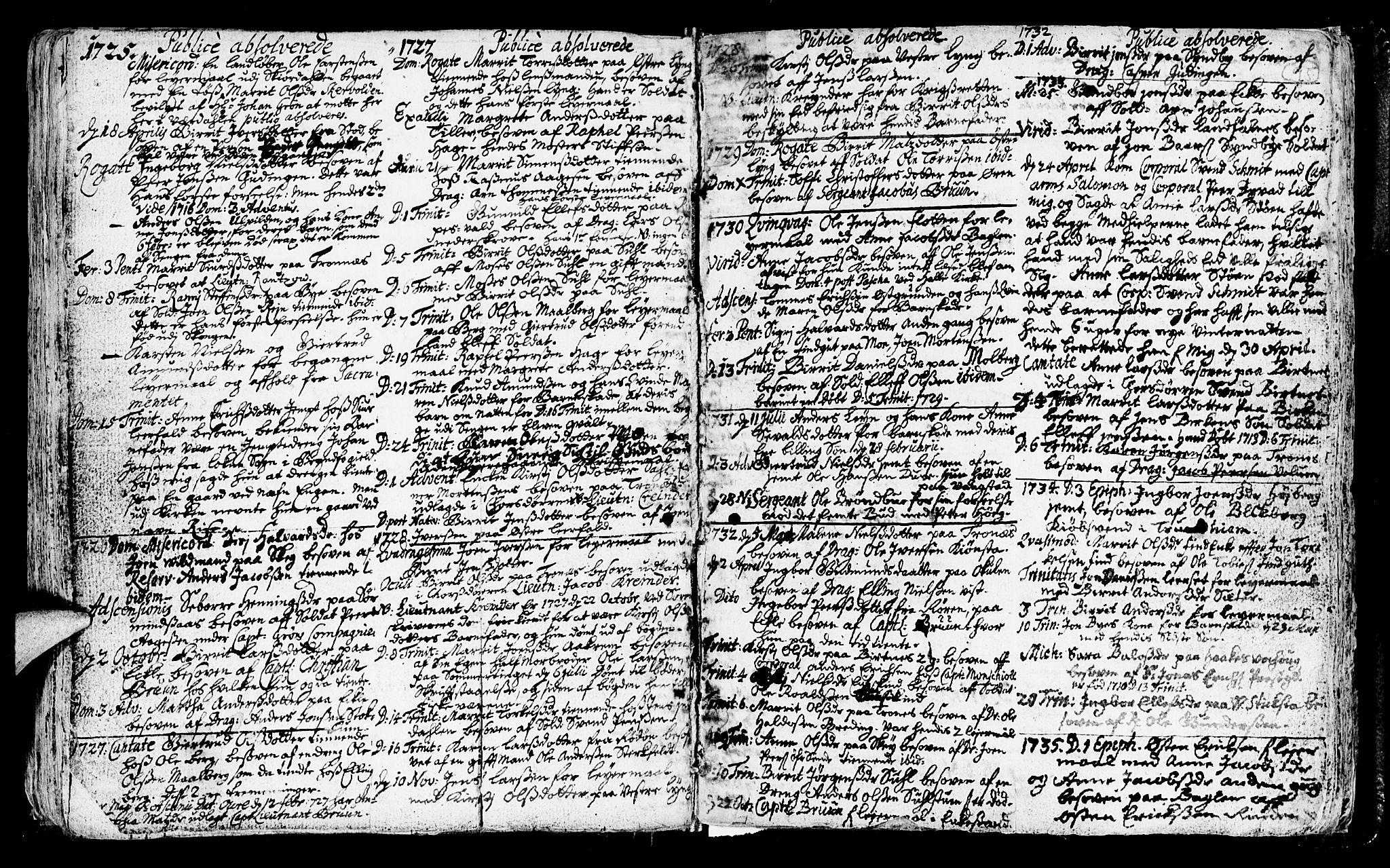 SAT, Ministerialprotokoller, klokkerbøker og fødselsregistre - Nord-Trøndelag, 723/L0230: Ministerialbok nr. 723A01, 1705-1747, s. 95